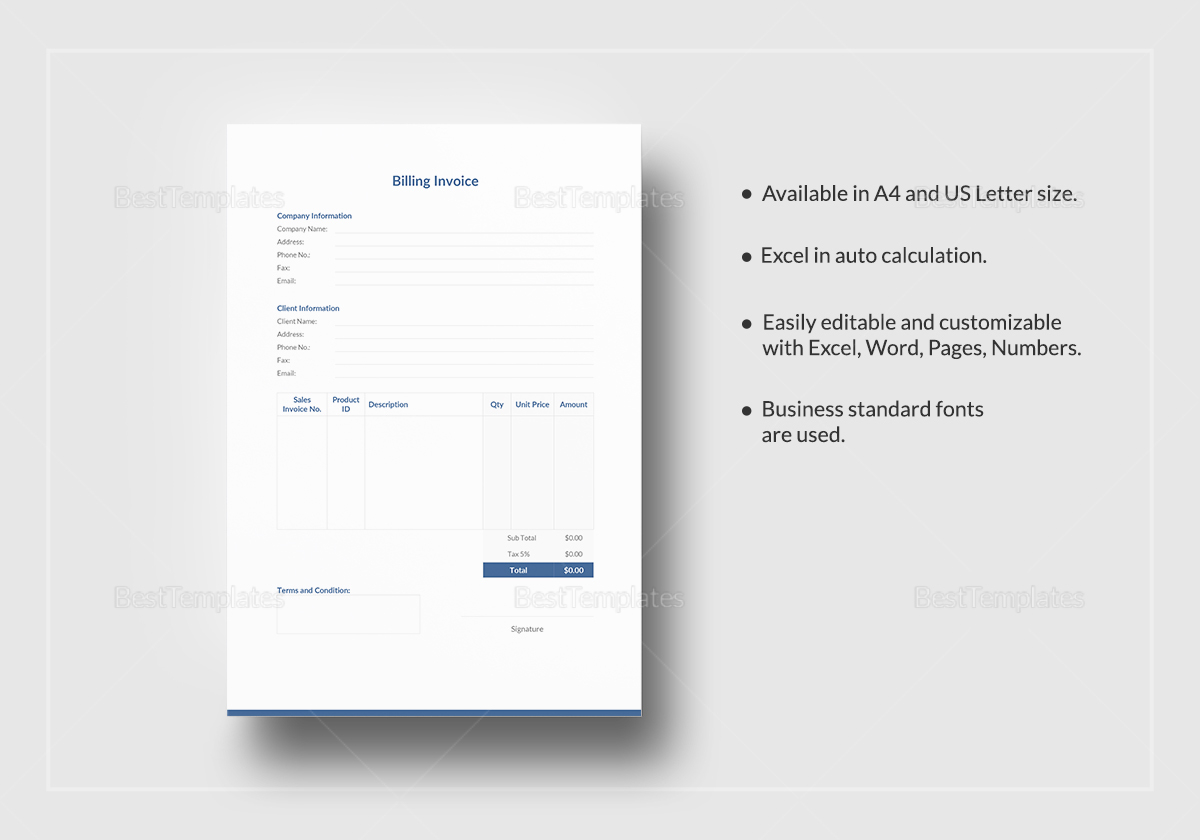 Simple Billing Invoice Template