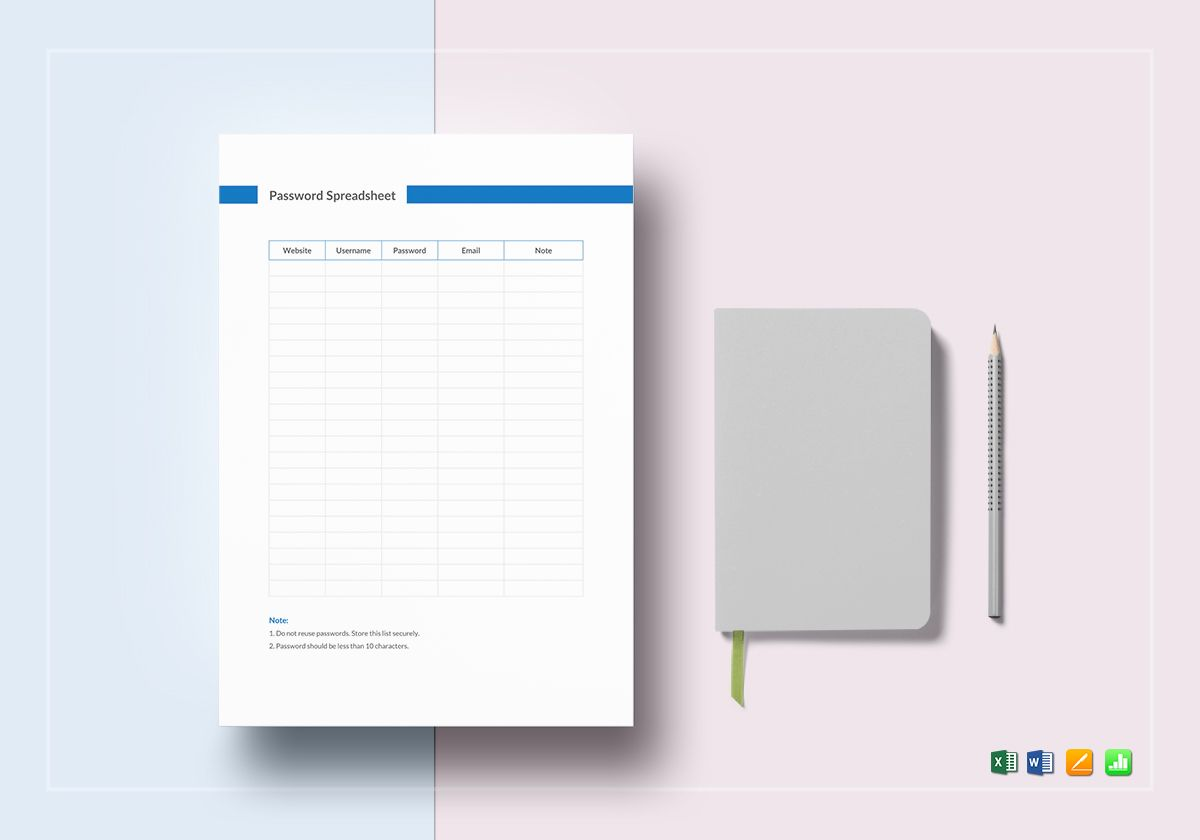 photograph relating to Password Tracker Template named Pword Spreadsheet Template