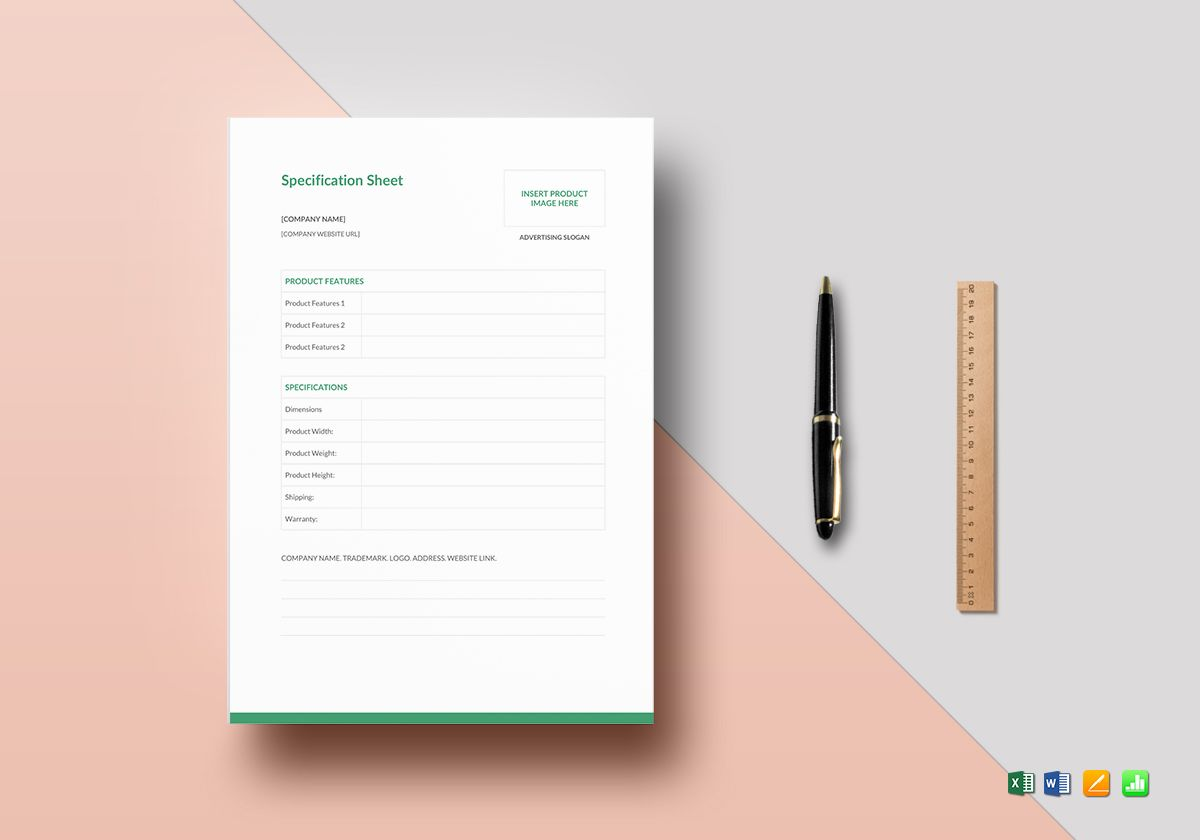 Product Specification Sheet Template from images.besttemplates.com