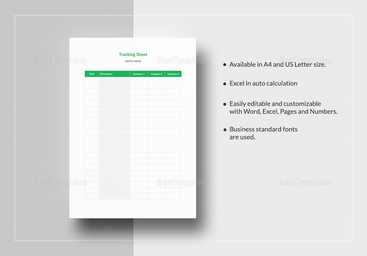 Simple Tracking Sheet Template