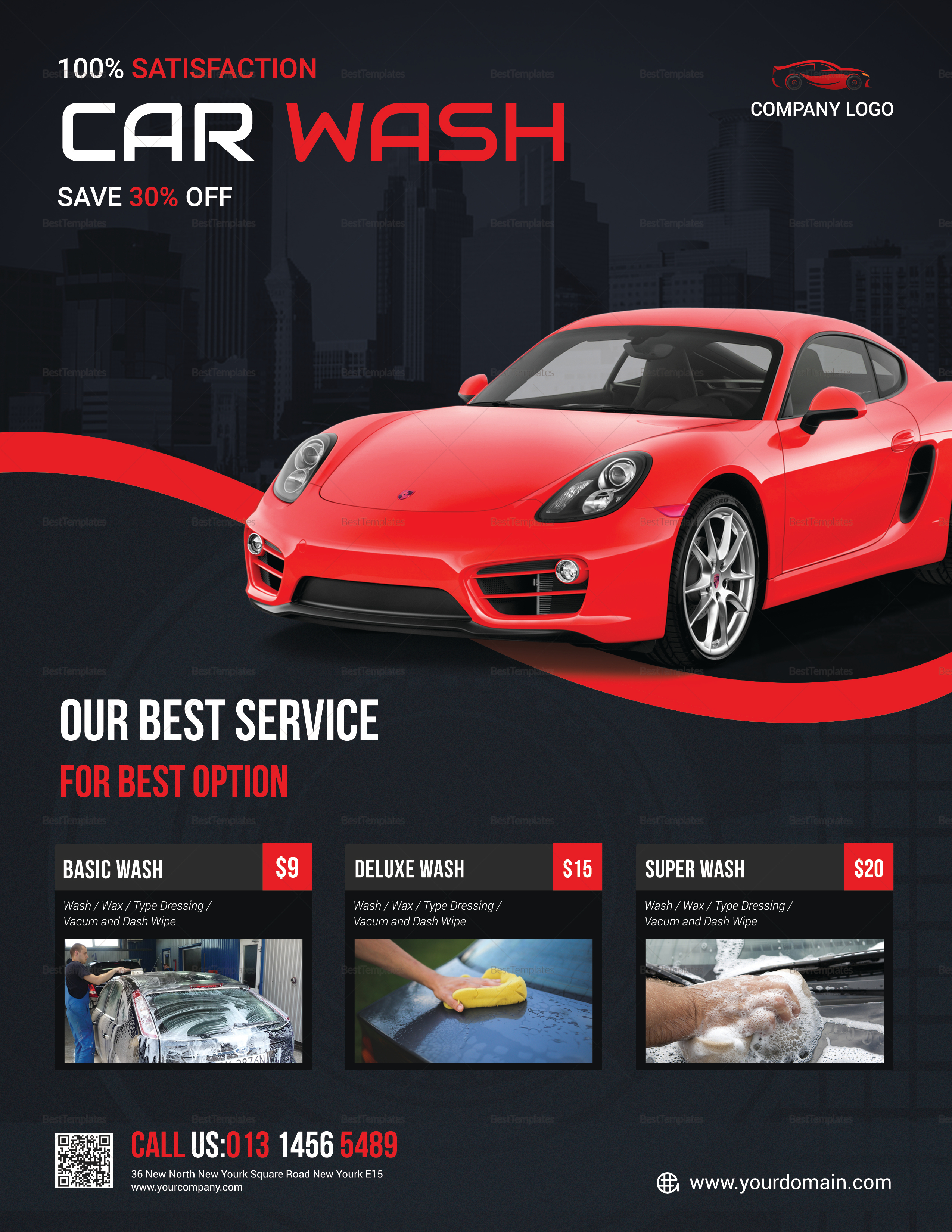 Best Car Wash Service Flyer Design Template In Psd Word Publisher
