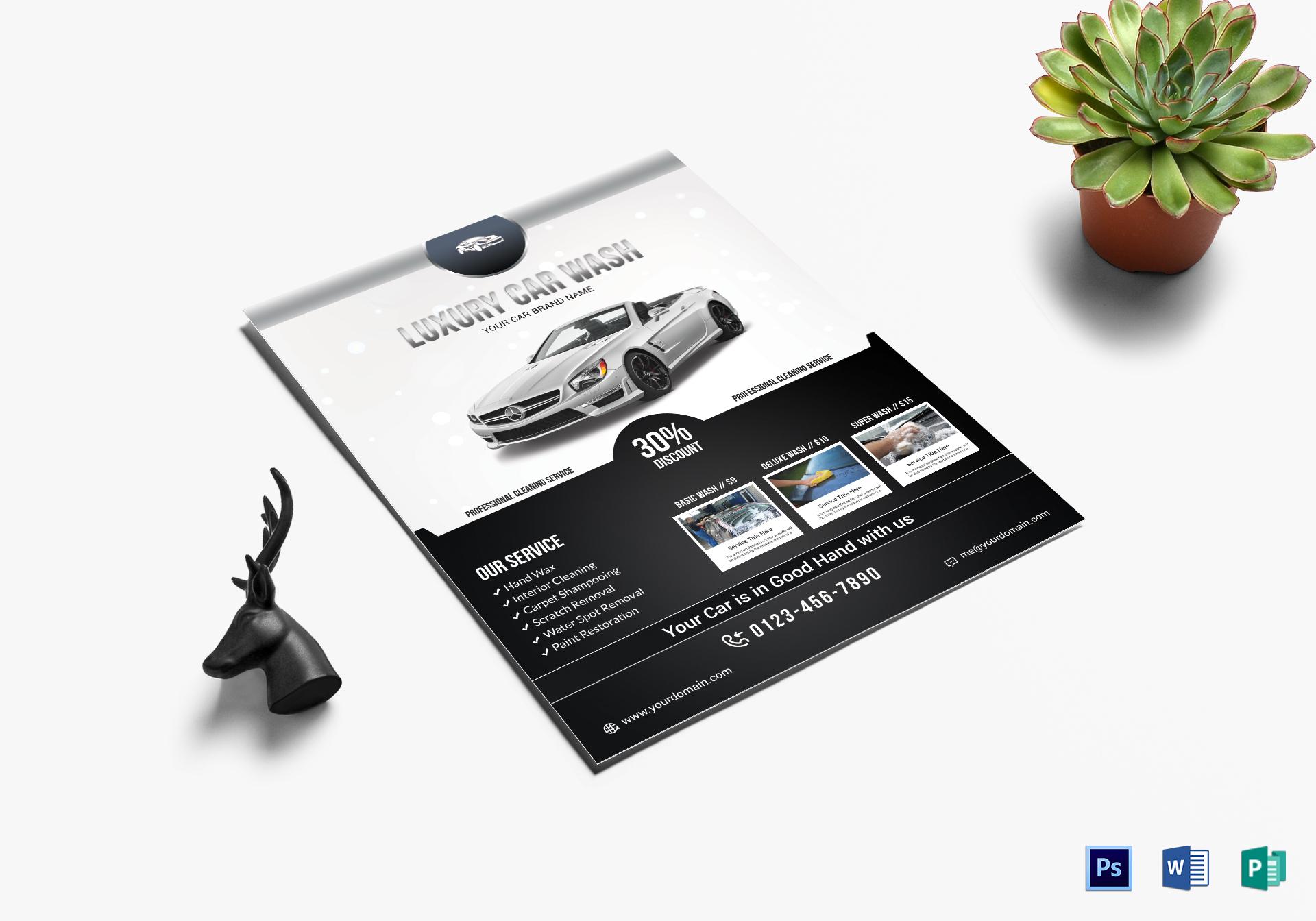 Luxury Car Wash Flyer
