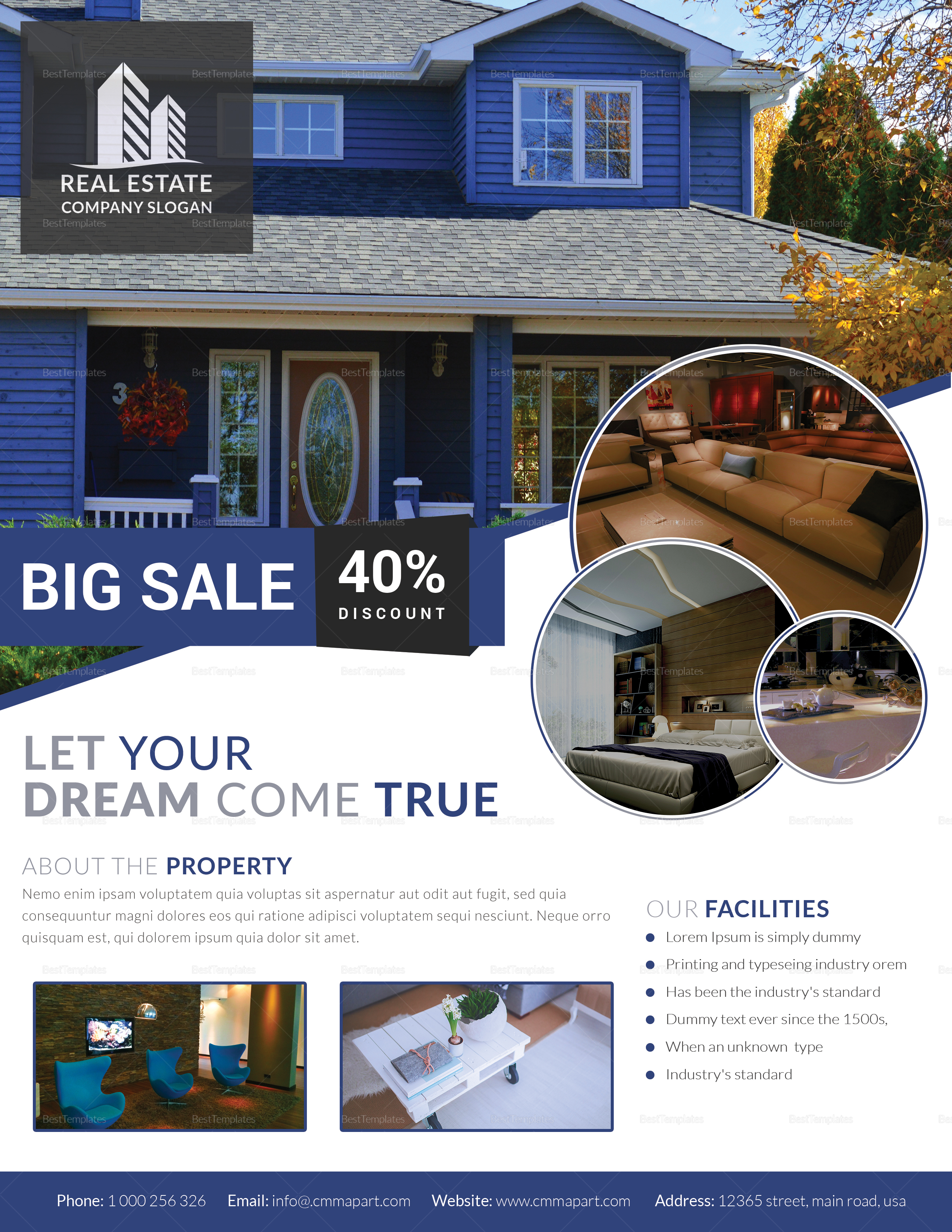 Stylish Real Estate Flyer Design Template