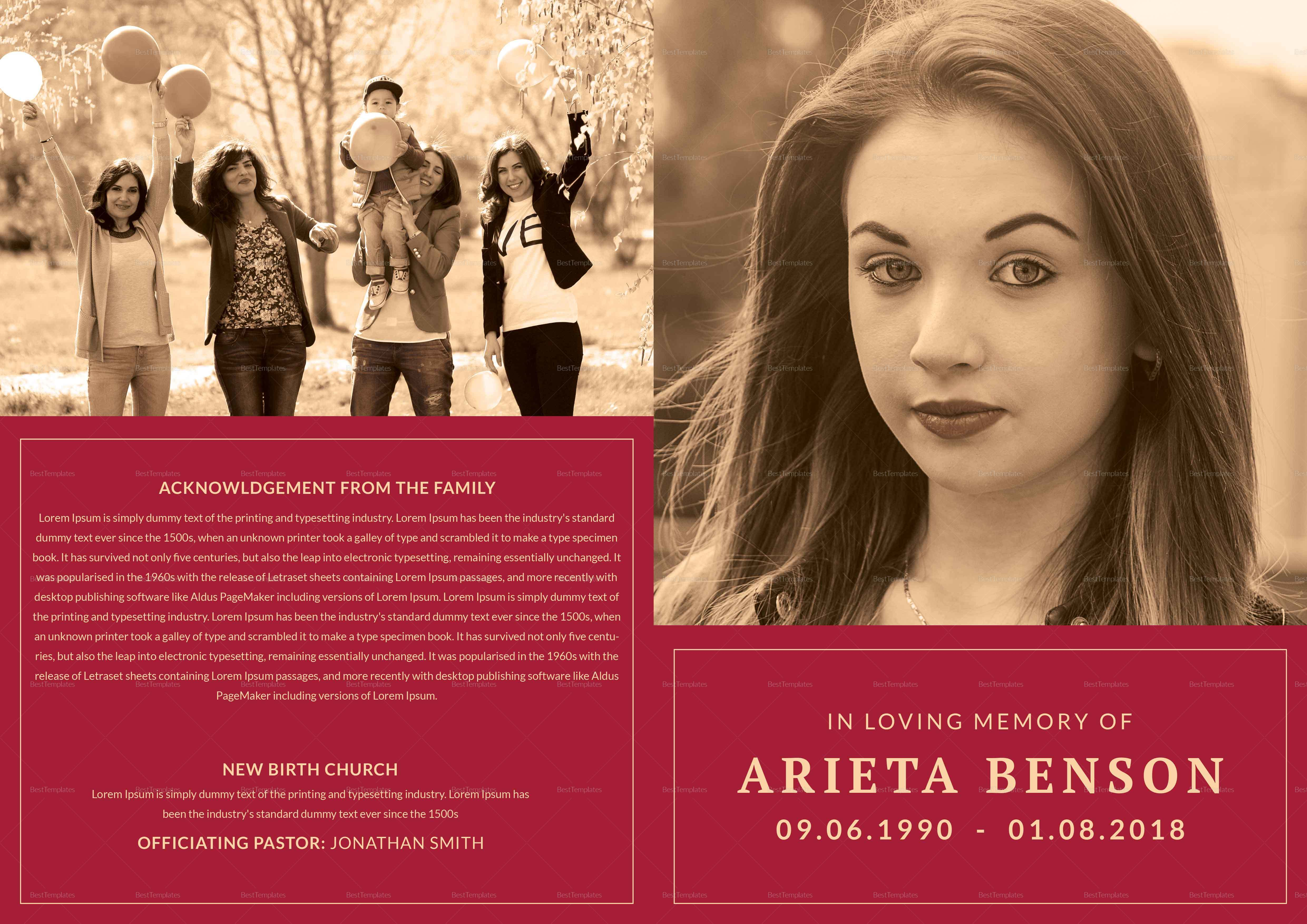 Funeral Service Bi-fold Brochure
