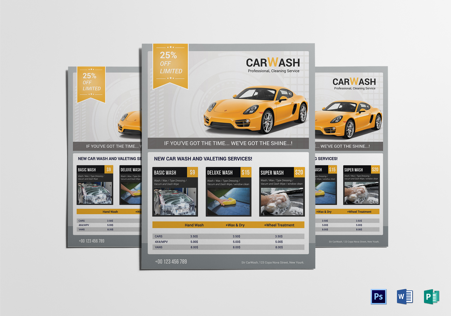 Car Wash And Valeting Service Flyer