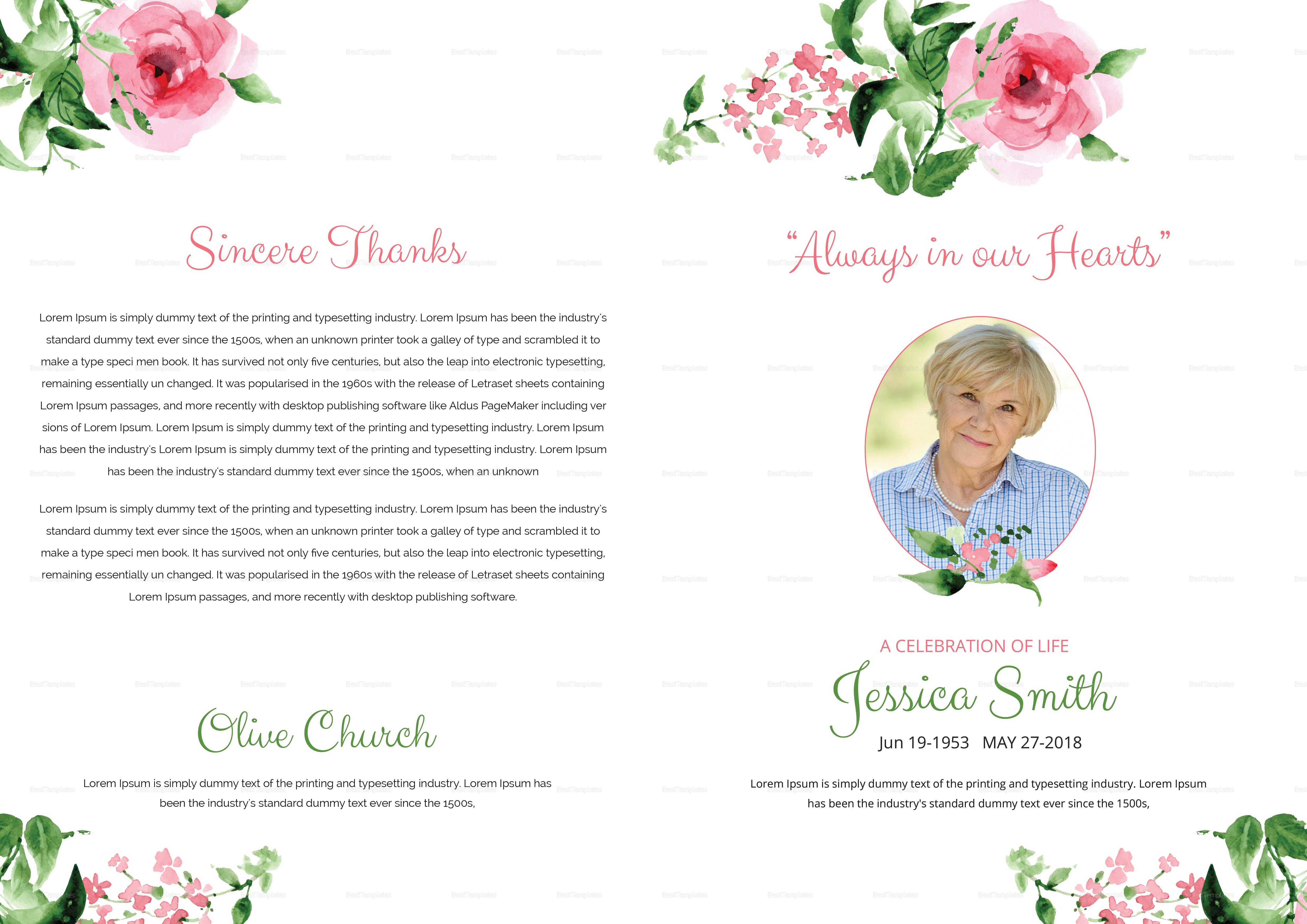Bi-Fold Brochure Funeral