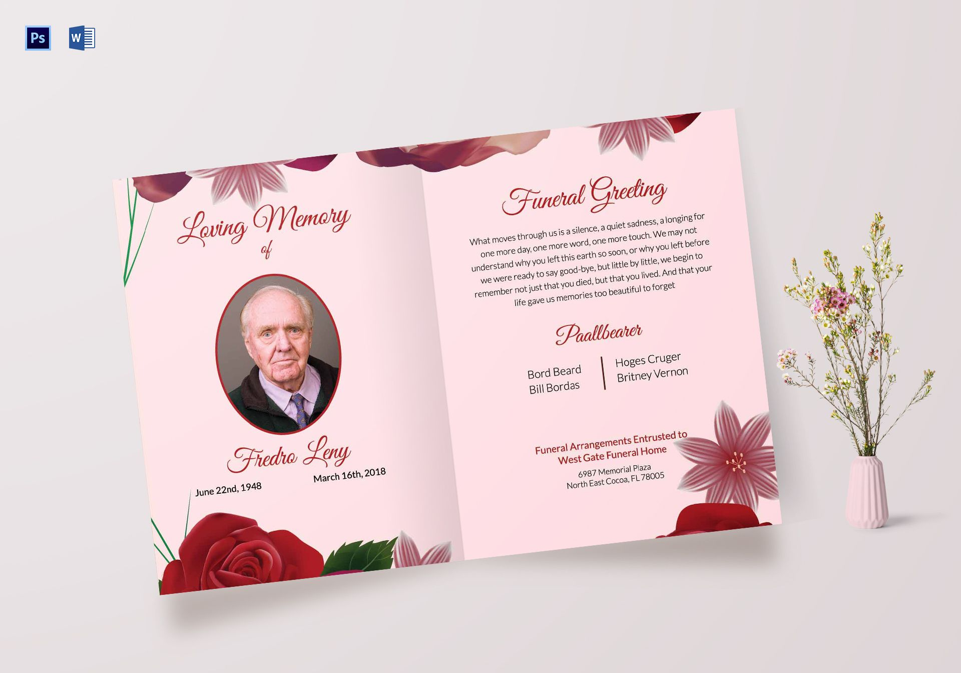 Memorable Funeral Greeting Card