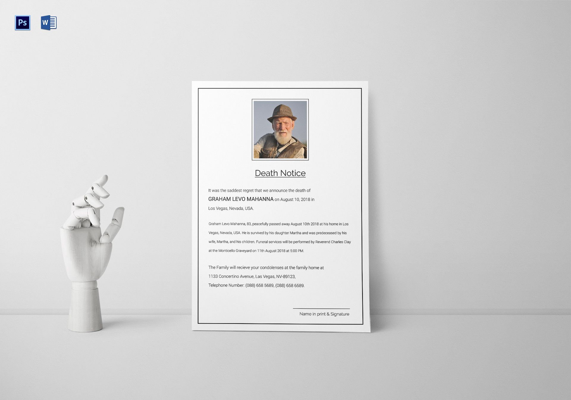 Premium Death Notice Template