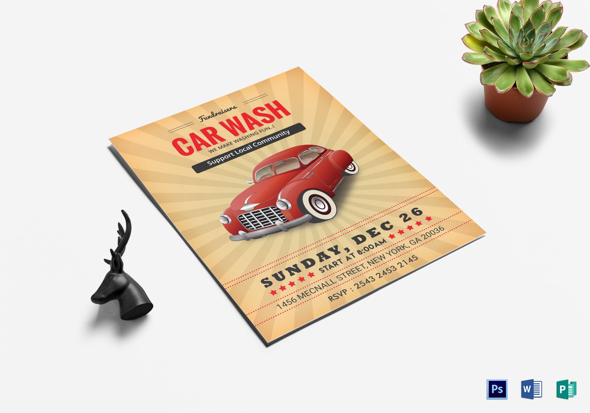 Fundraiser Car Wash Flyer