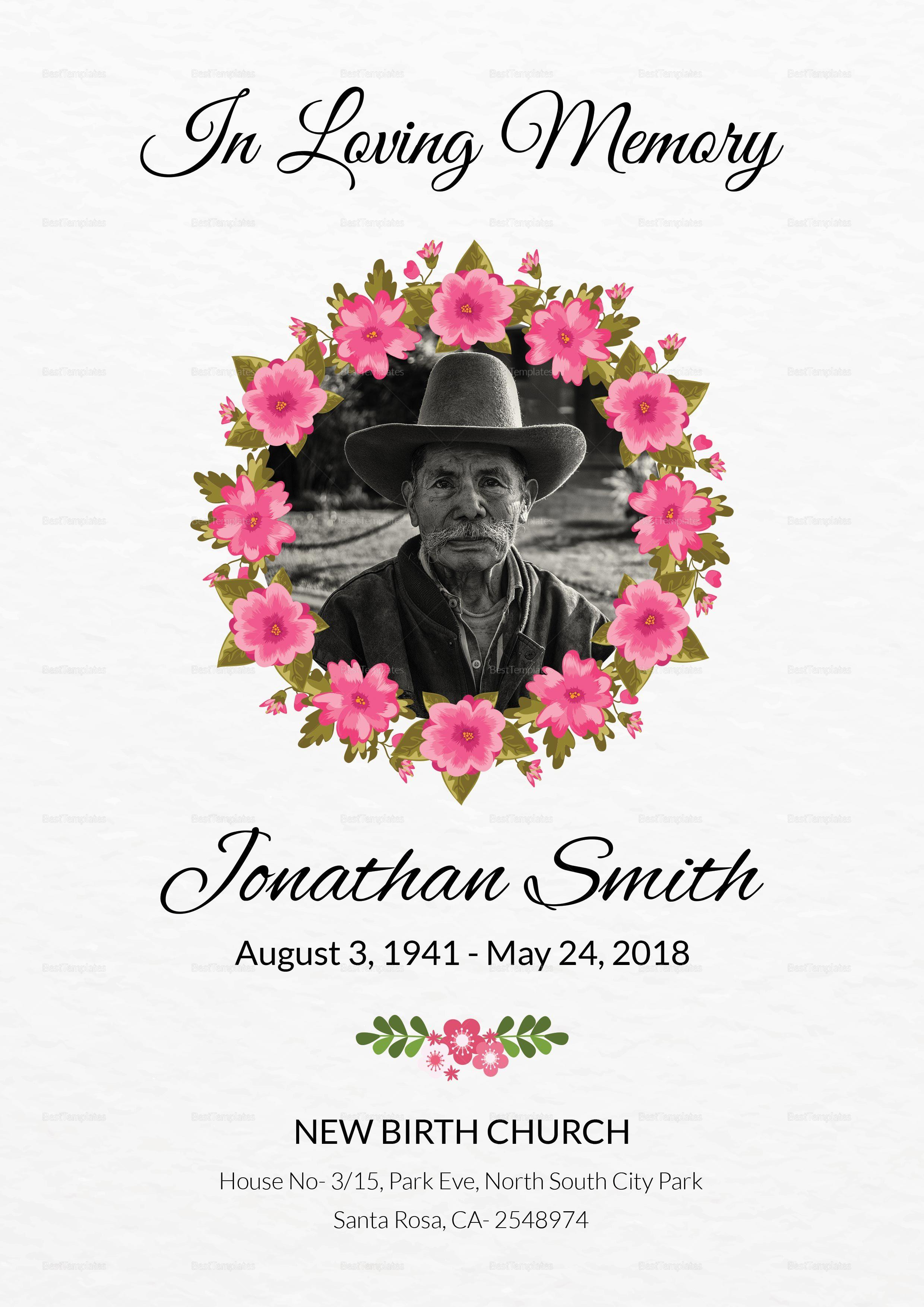 Obituary Death Announcement Template