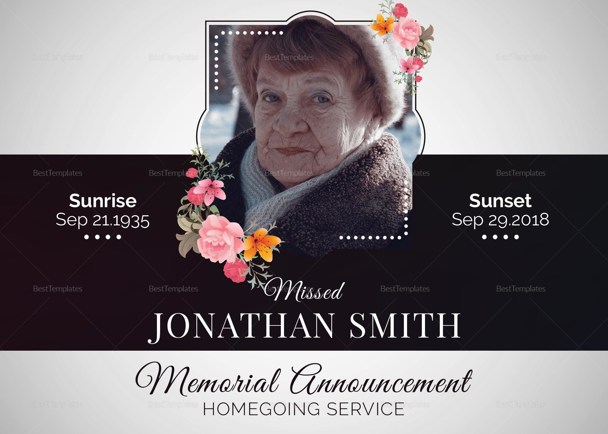 Death and Funeral Announcement
