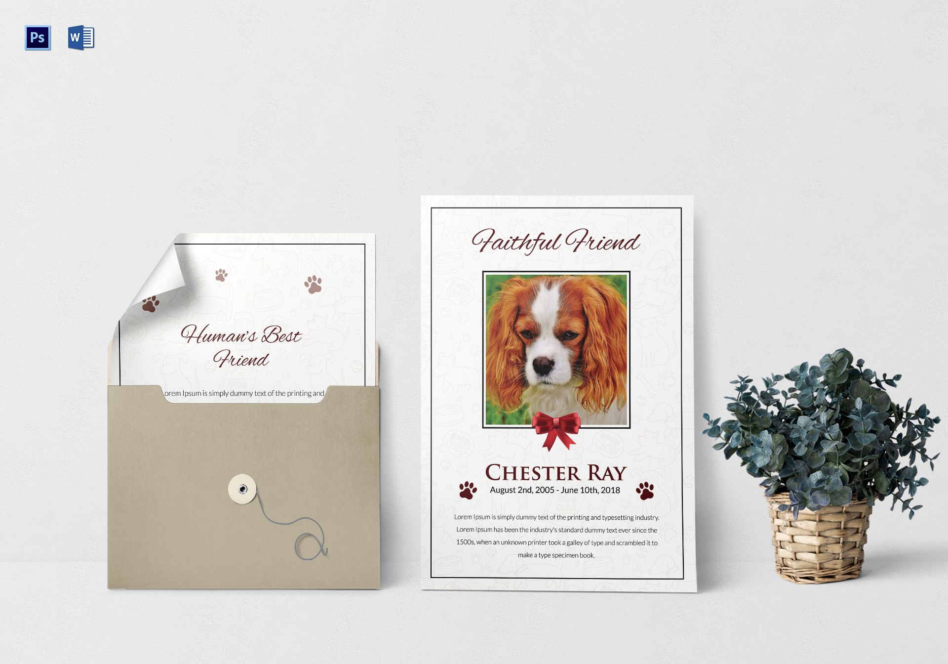 Premium Pet Funeral Program Template