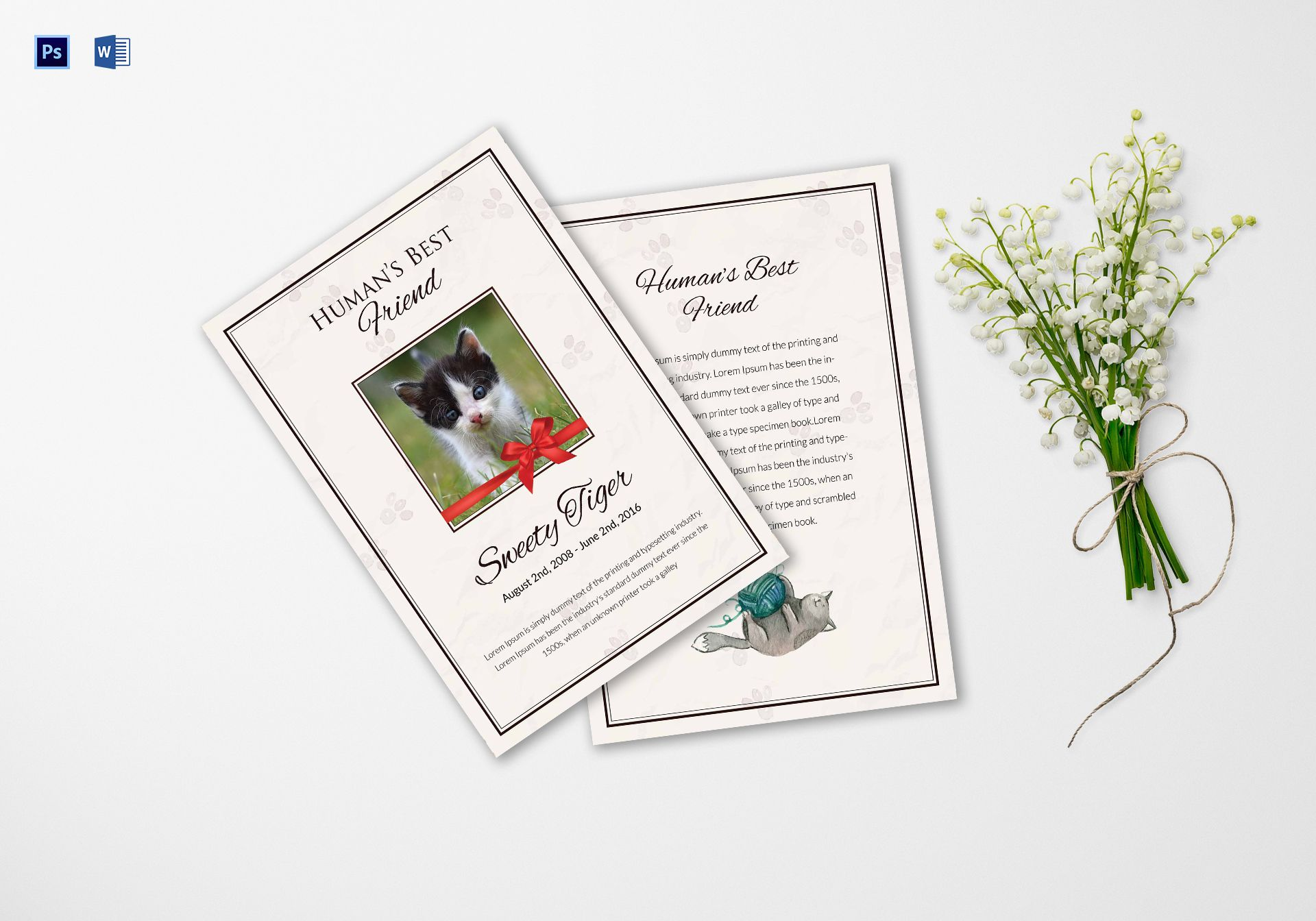 Humans Best Pet Funeral Program Template
