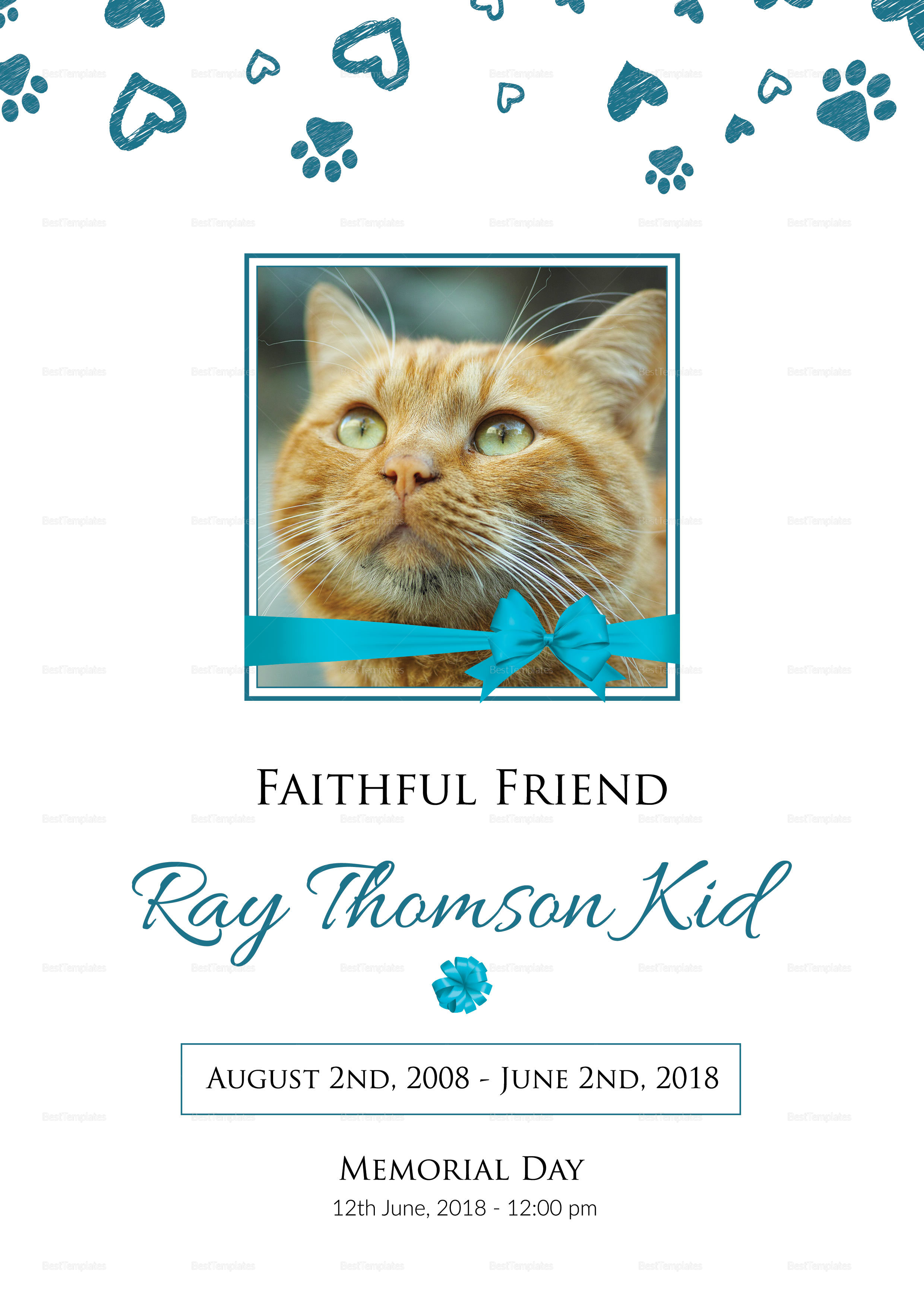Faithful Pet Funeral Program