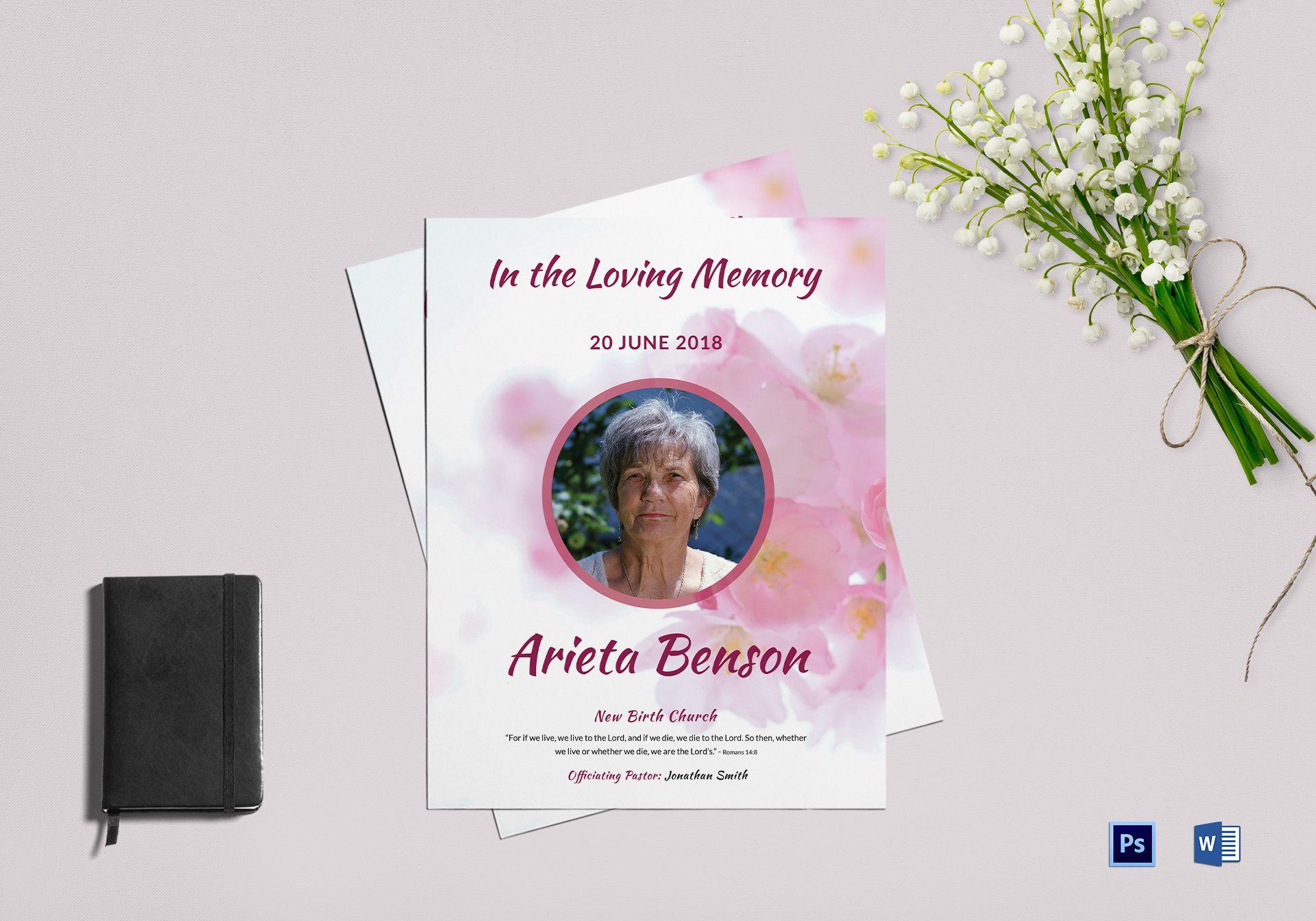 Memorial Funeral Flyer