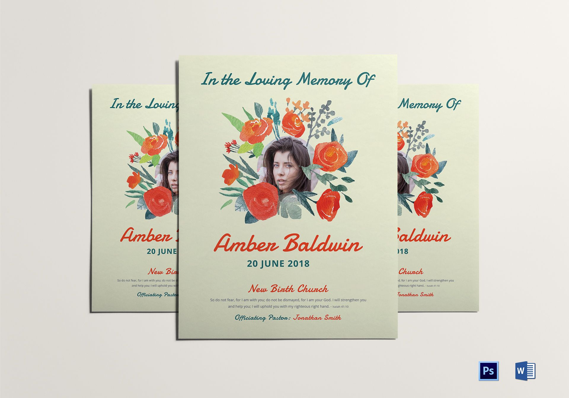 Printable Memorial Flyer Template