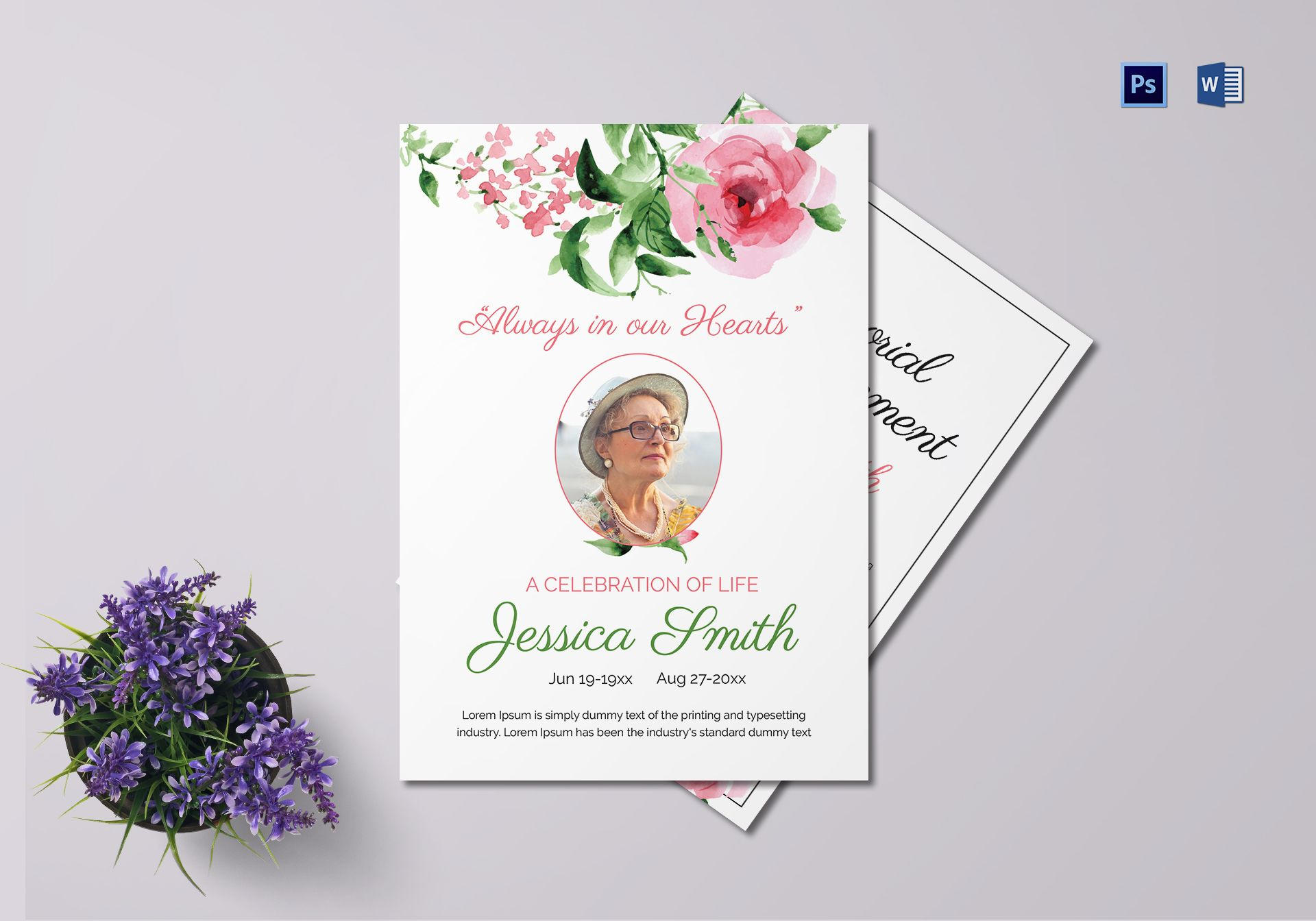 Announcement of Mother Funeral Template