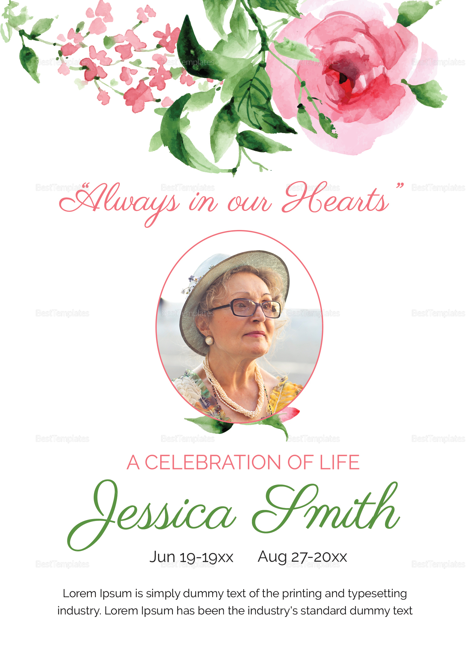 Announcement of Mother Funeral