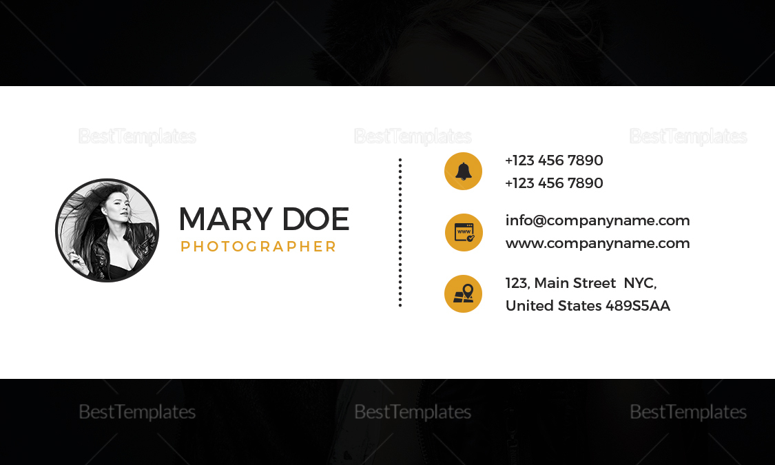 Fashion Photography Business Card Design Template