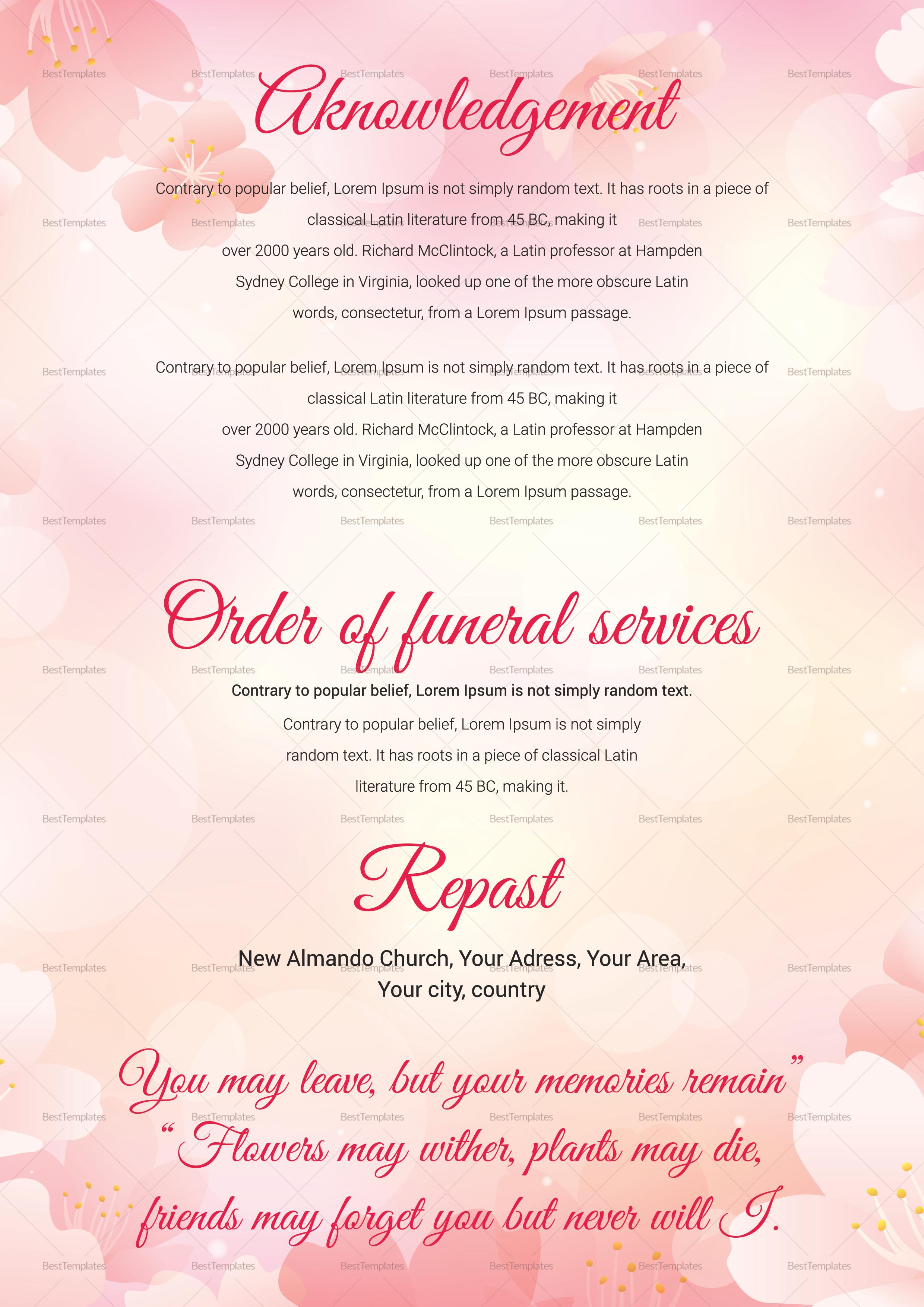 Elegant Funeral Template