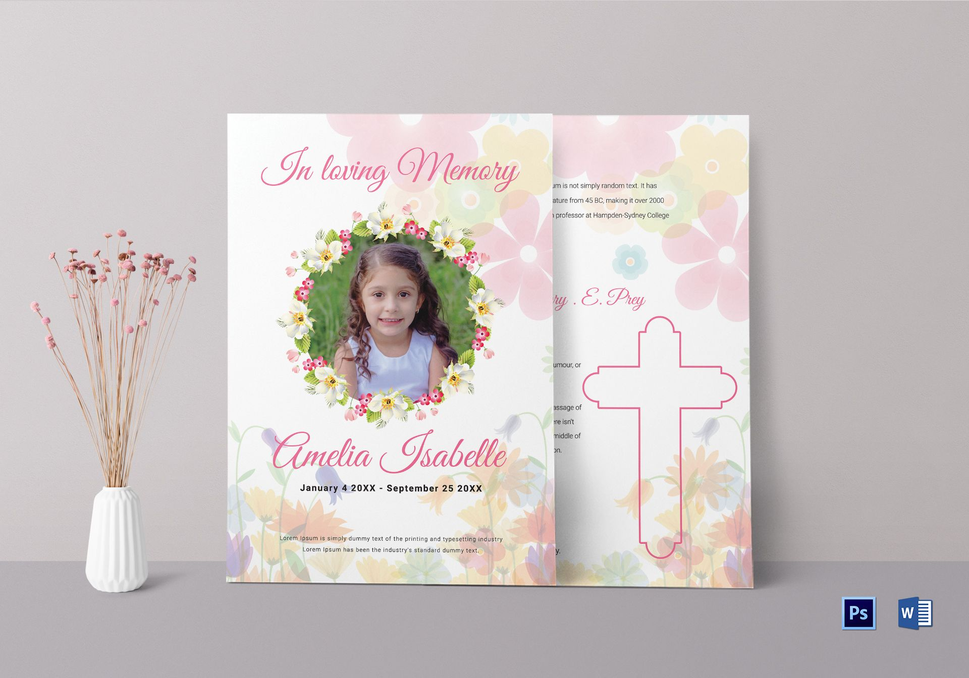 Obituary Funeral Templates For kids