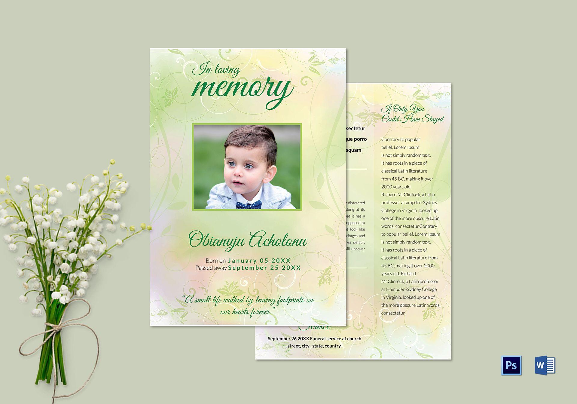 Kids Funeral Invitation