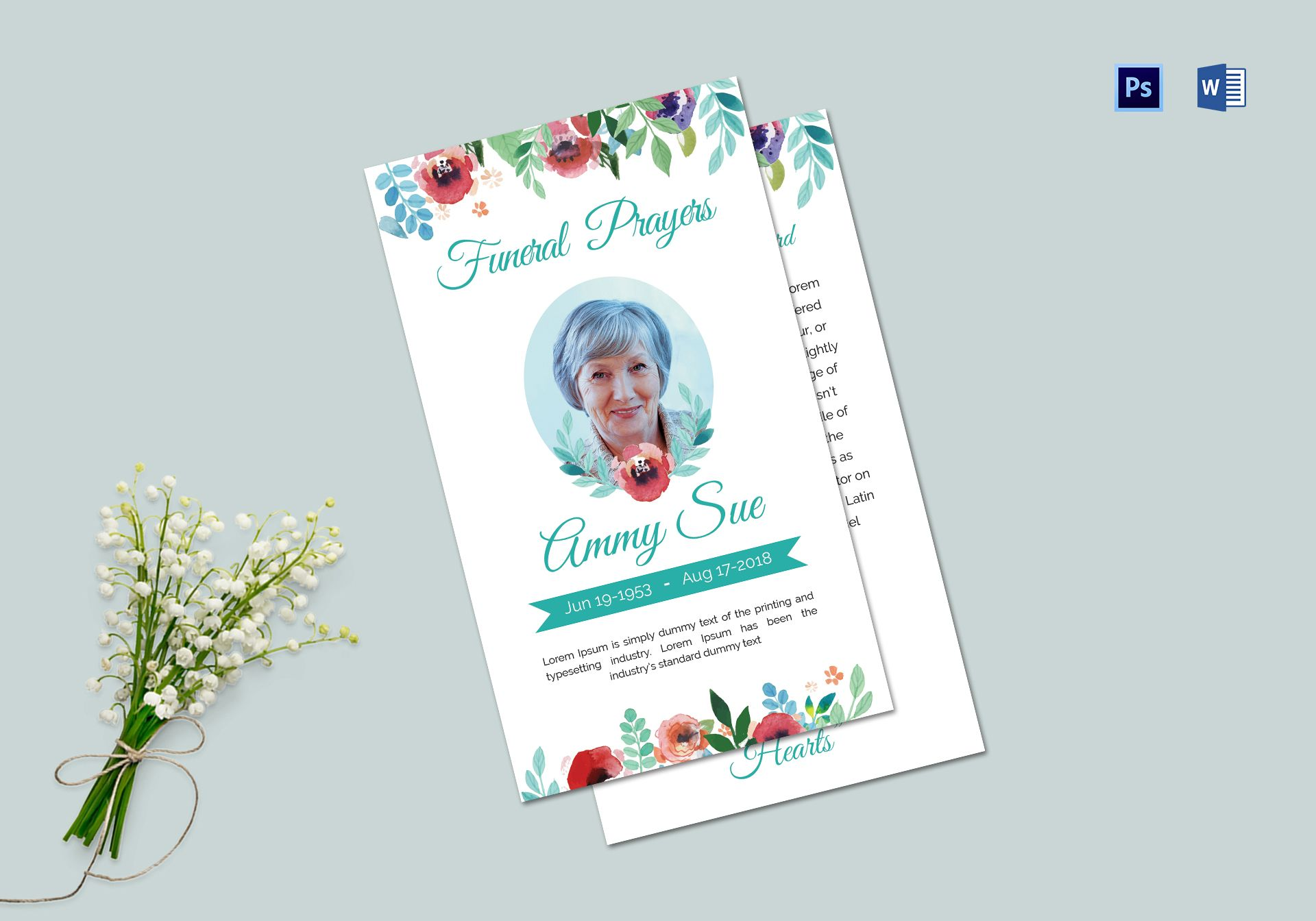 Funeral Family Prayer Card Template