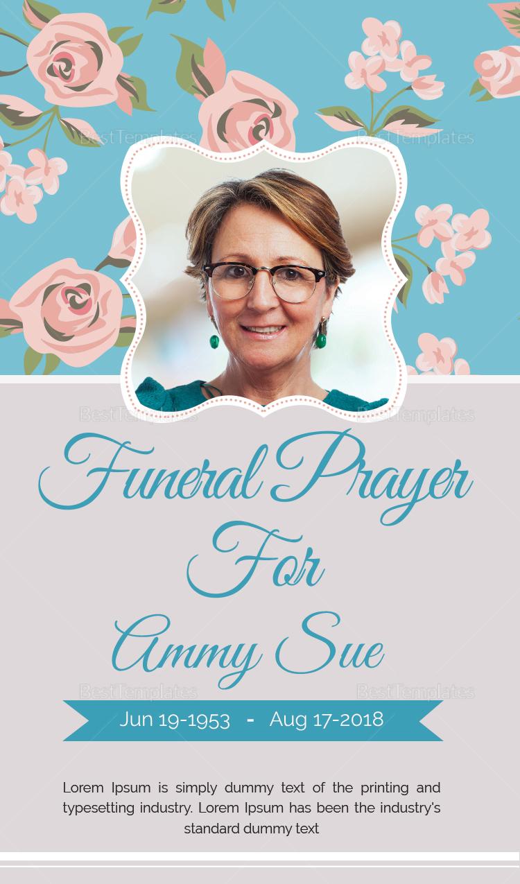 Funeral Request Prayer Card