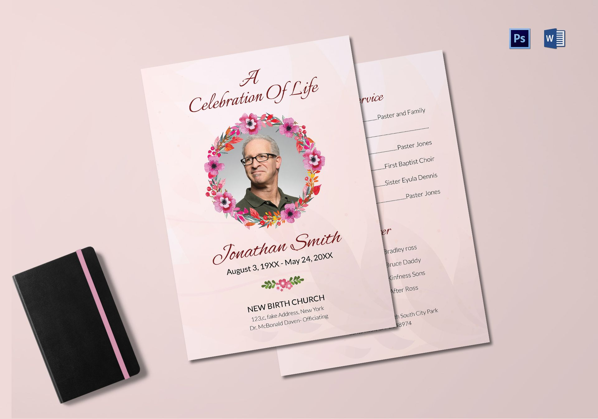 Premium Funeral Order of Service