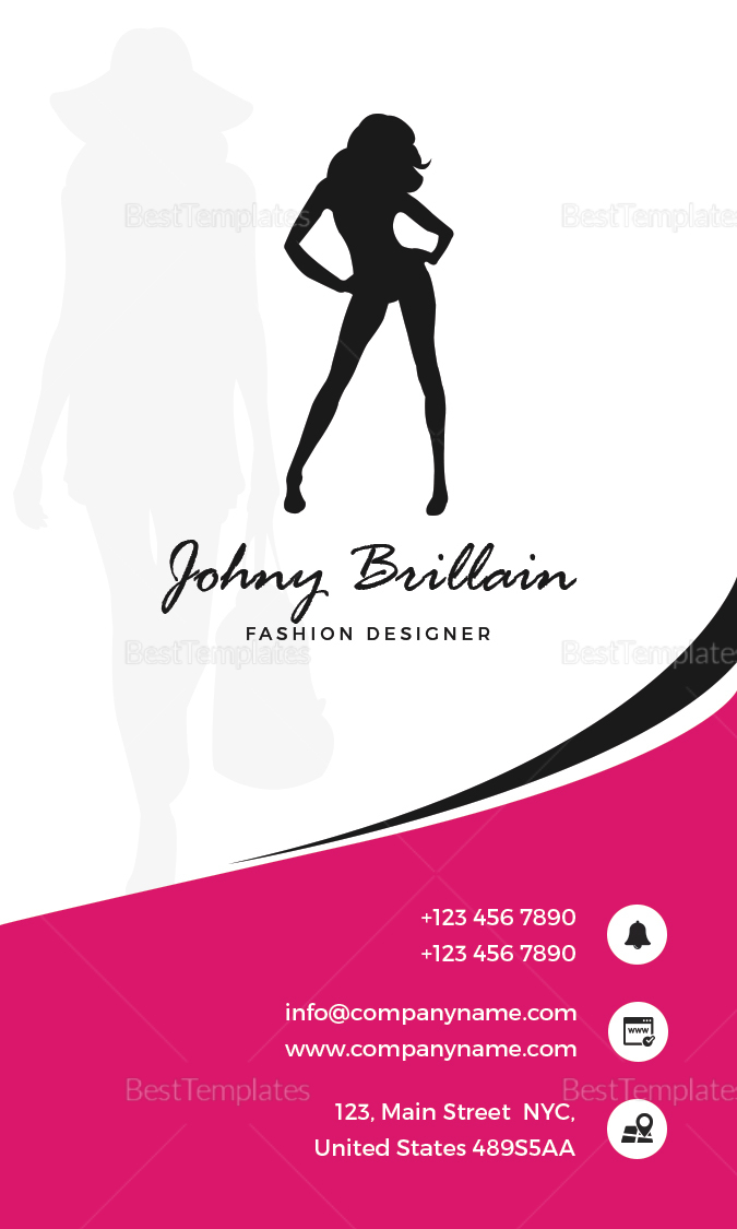 Fashion Designer Business Card Design Template
