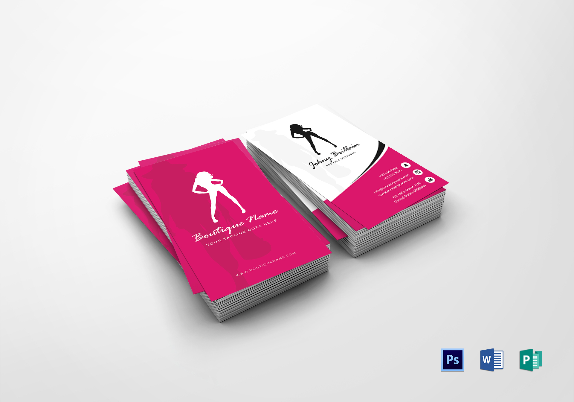 fashion designer business card design template in psd word publisher
