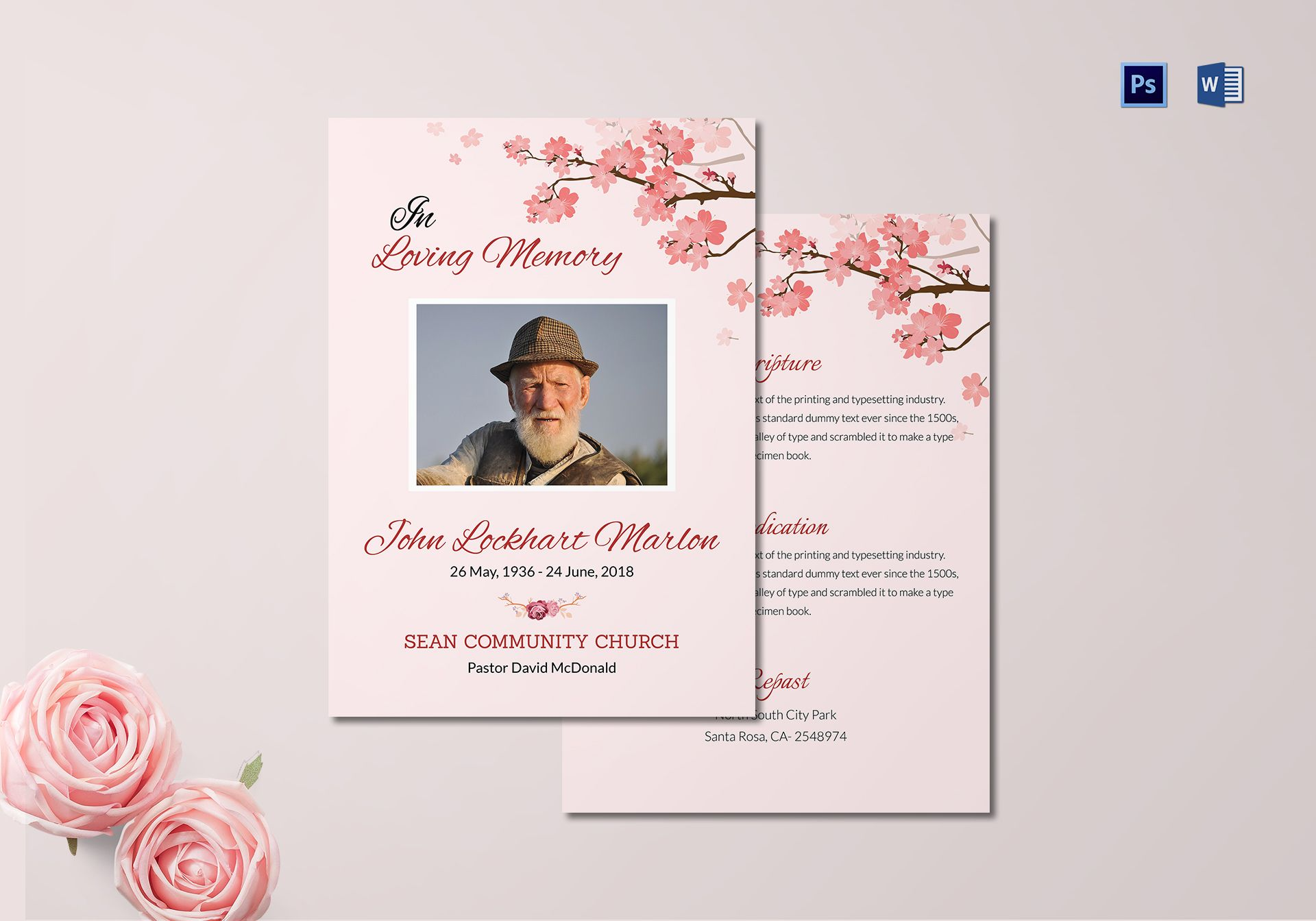Church Funeral Resolution Template in Adobe Photoshop, Microsoft Word