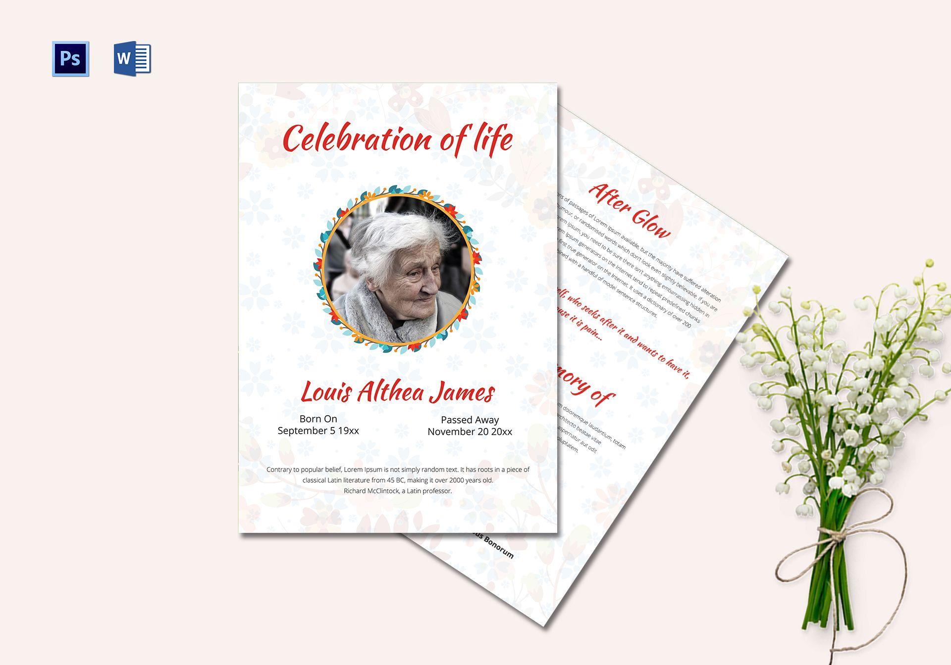 Creative Funeral Memorial Program