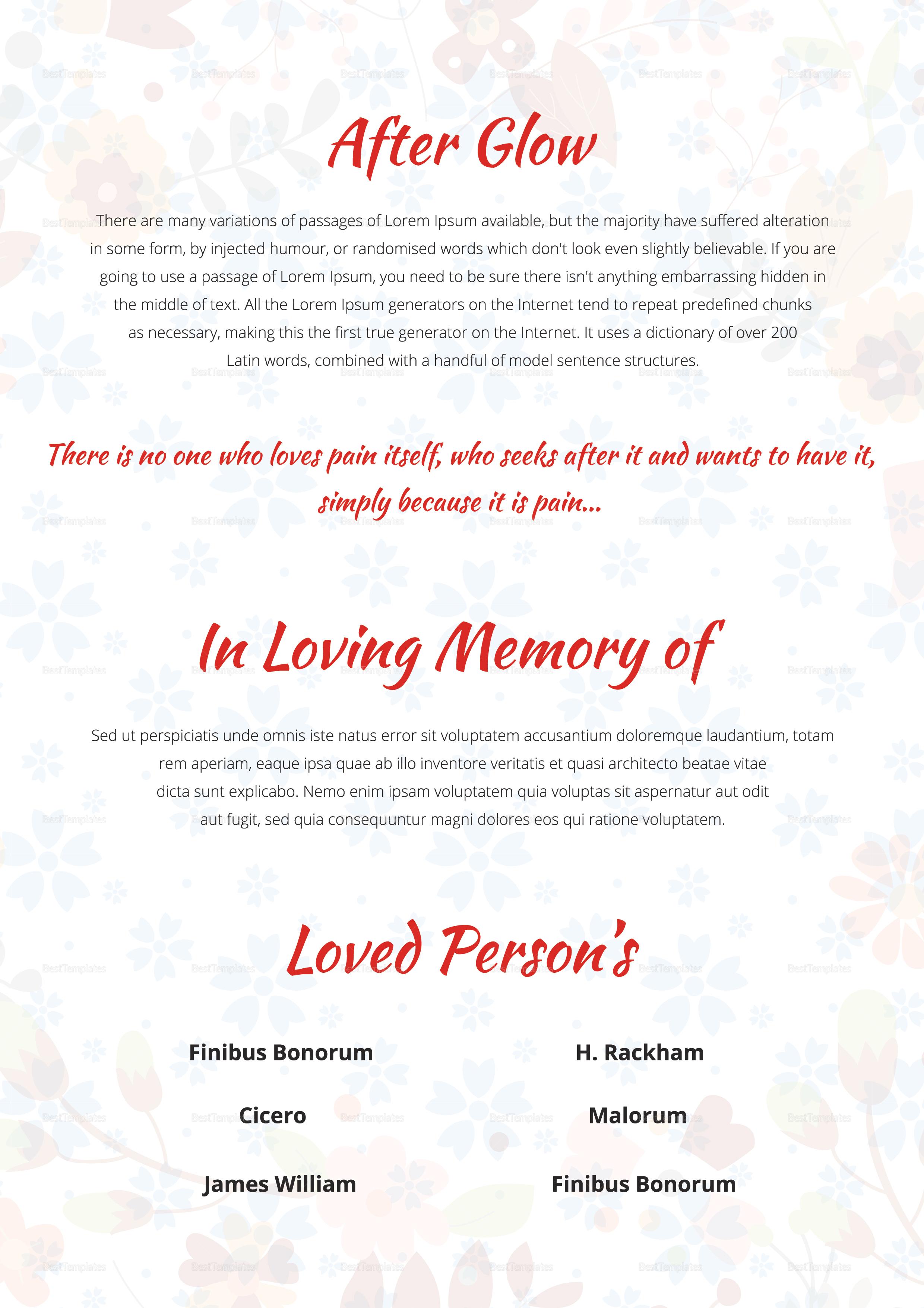 Creative Funeral Memorial