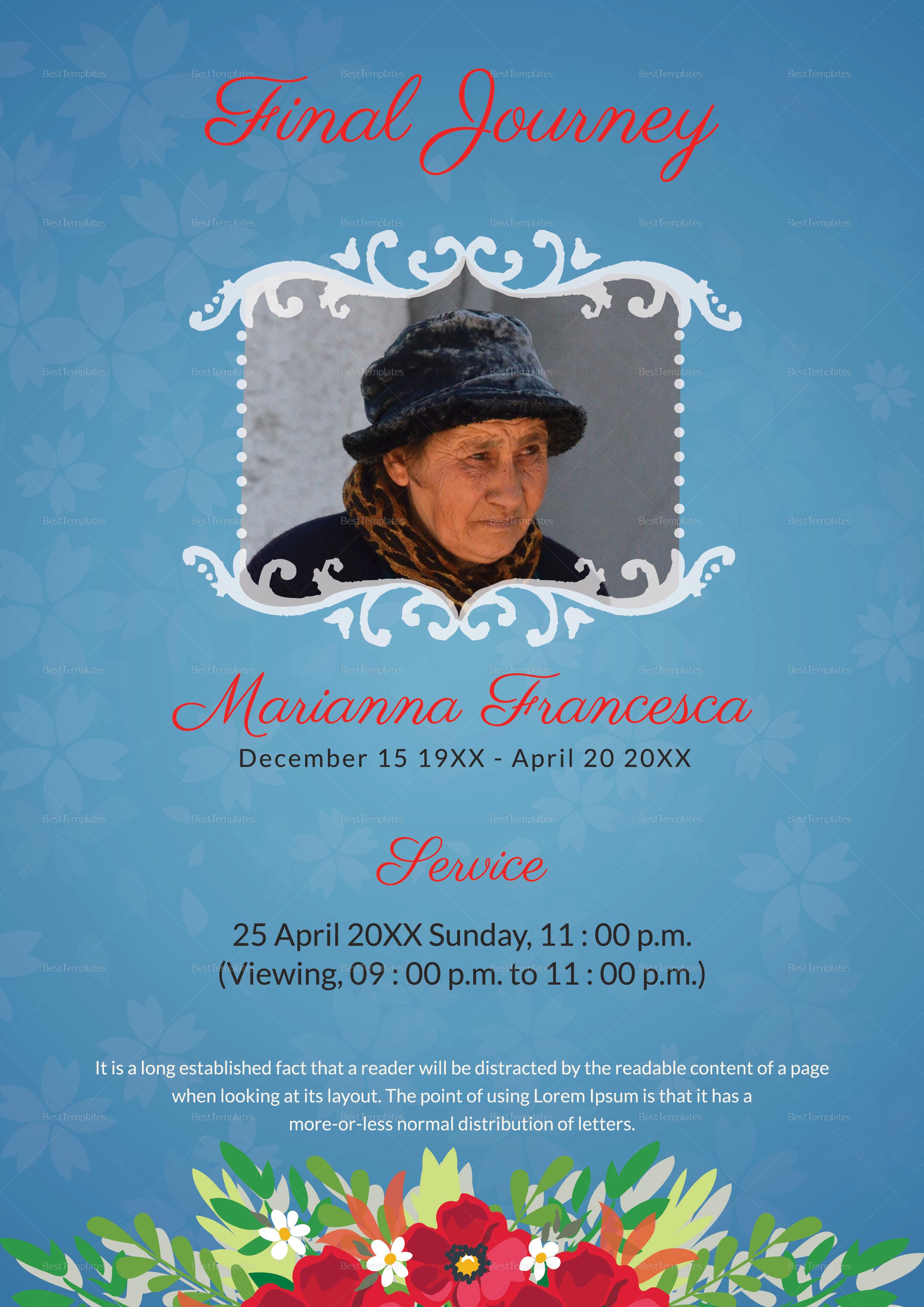 Funeral Memorial Program Template