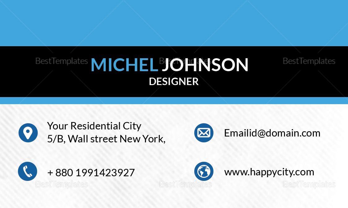 Designer Business Card Design