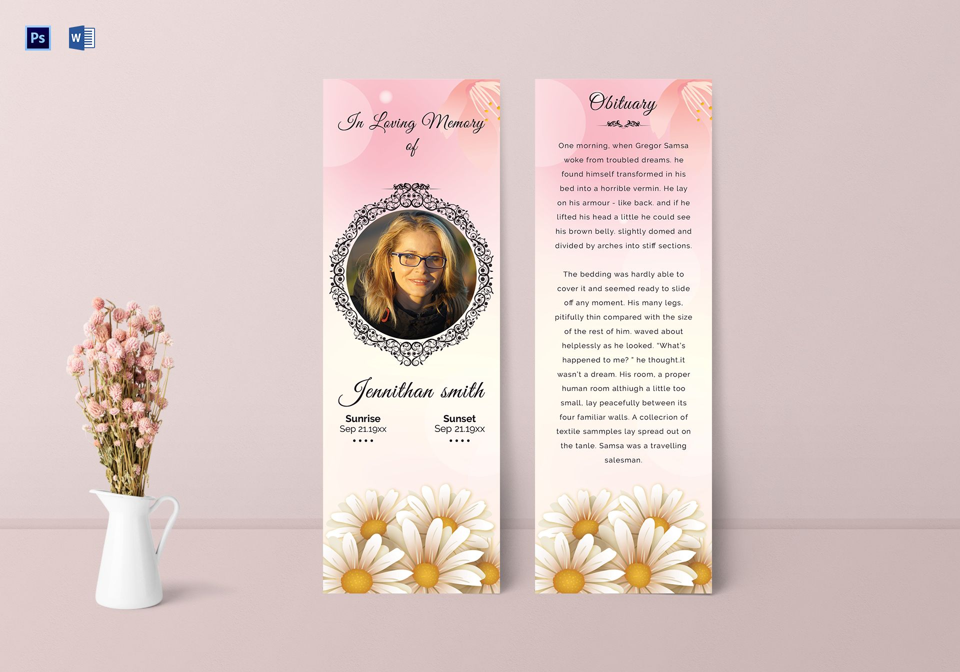 Forever Funeral Bookmark