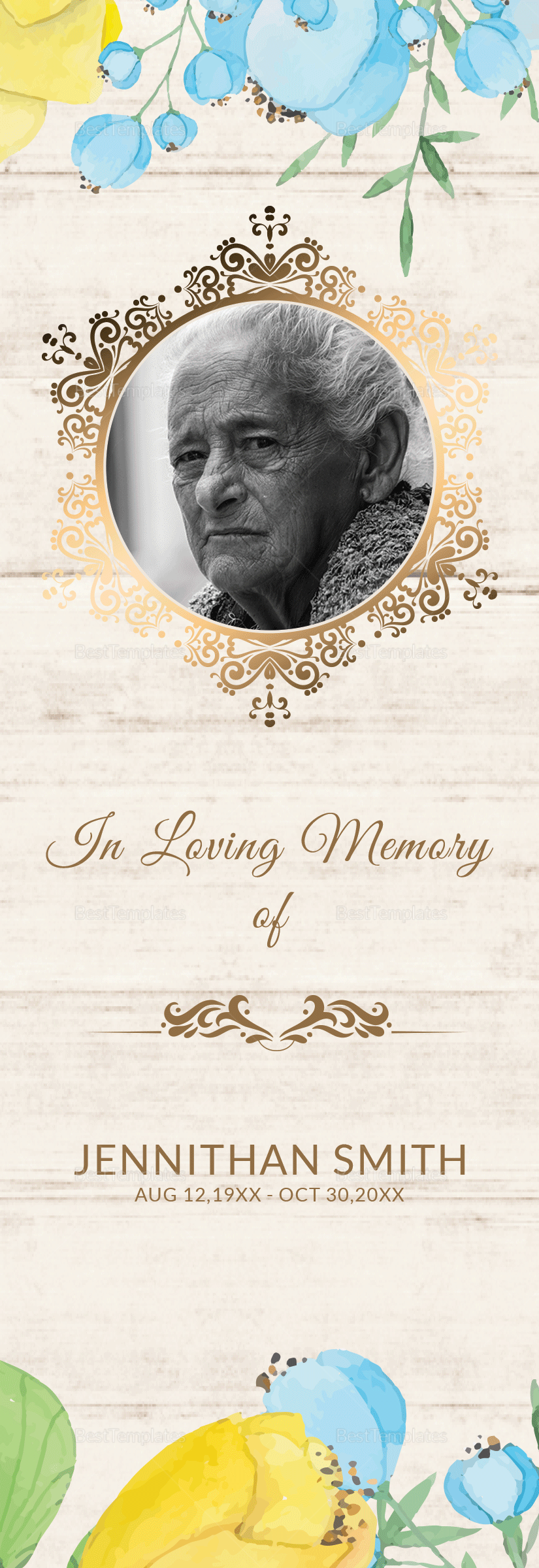 Memorial Service Bookmark