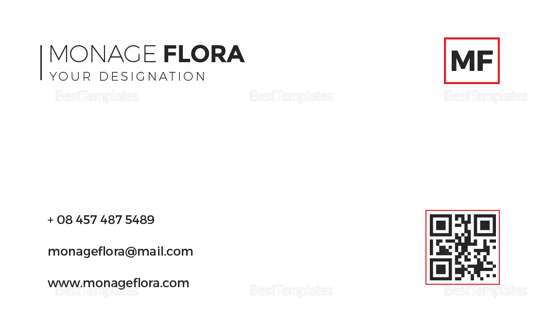 Sleek Business Card Design Template
