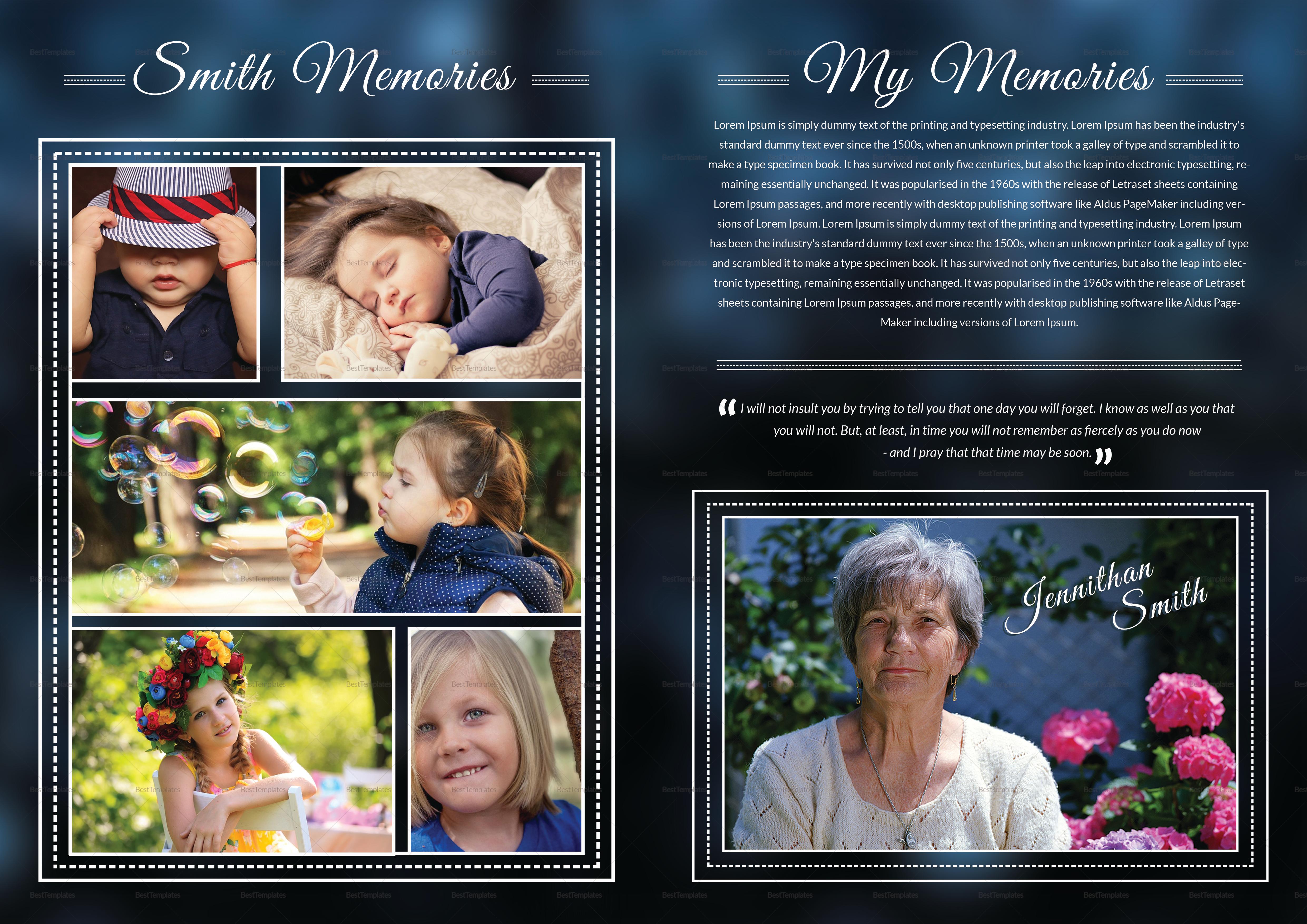 Editable Premium Funeral Booklet