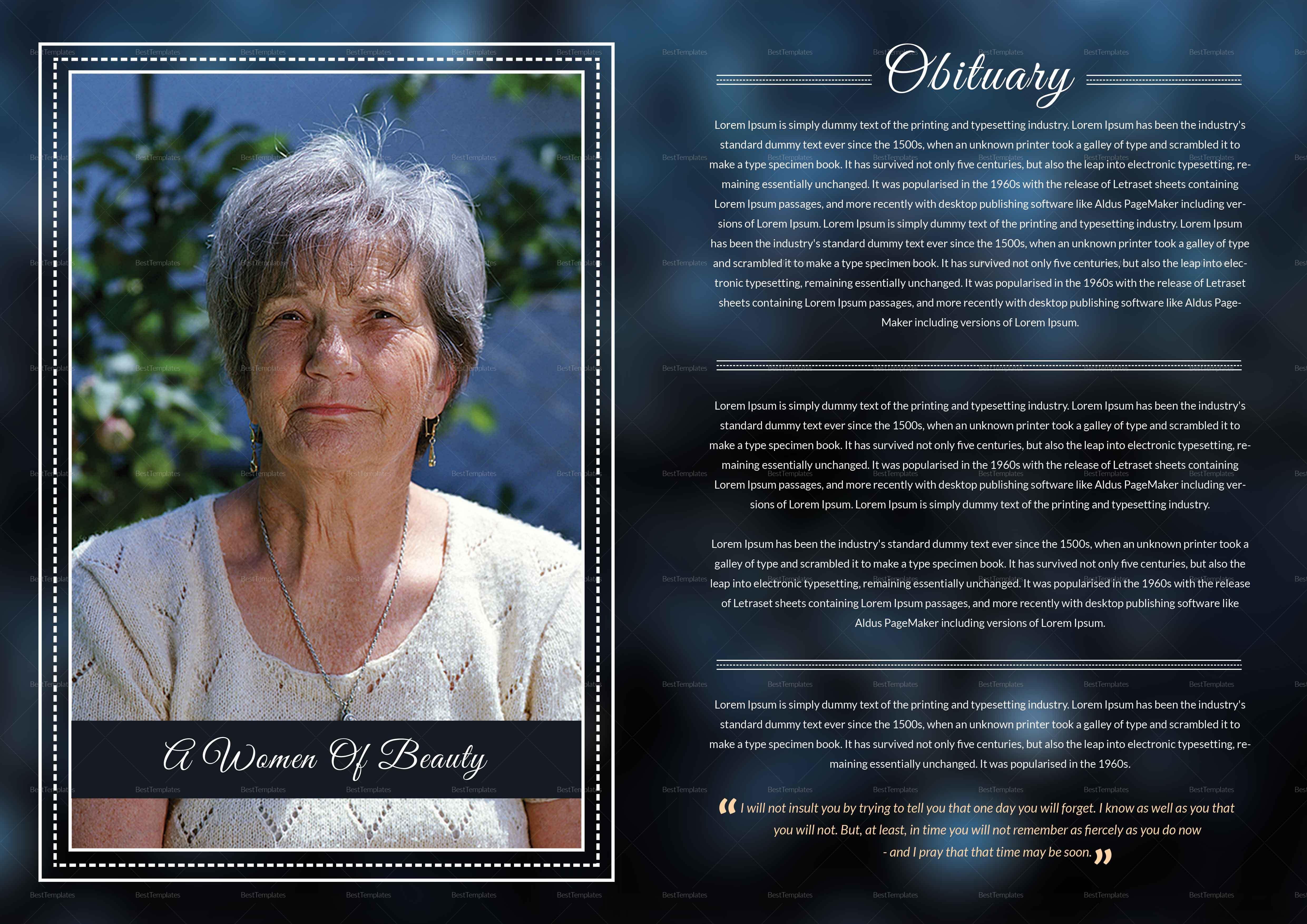 Premium Funeral Booklet