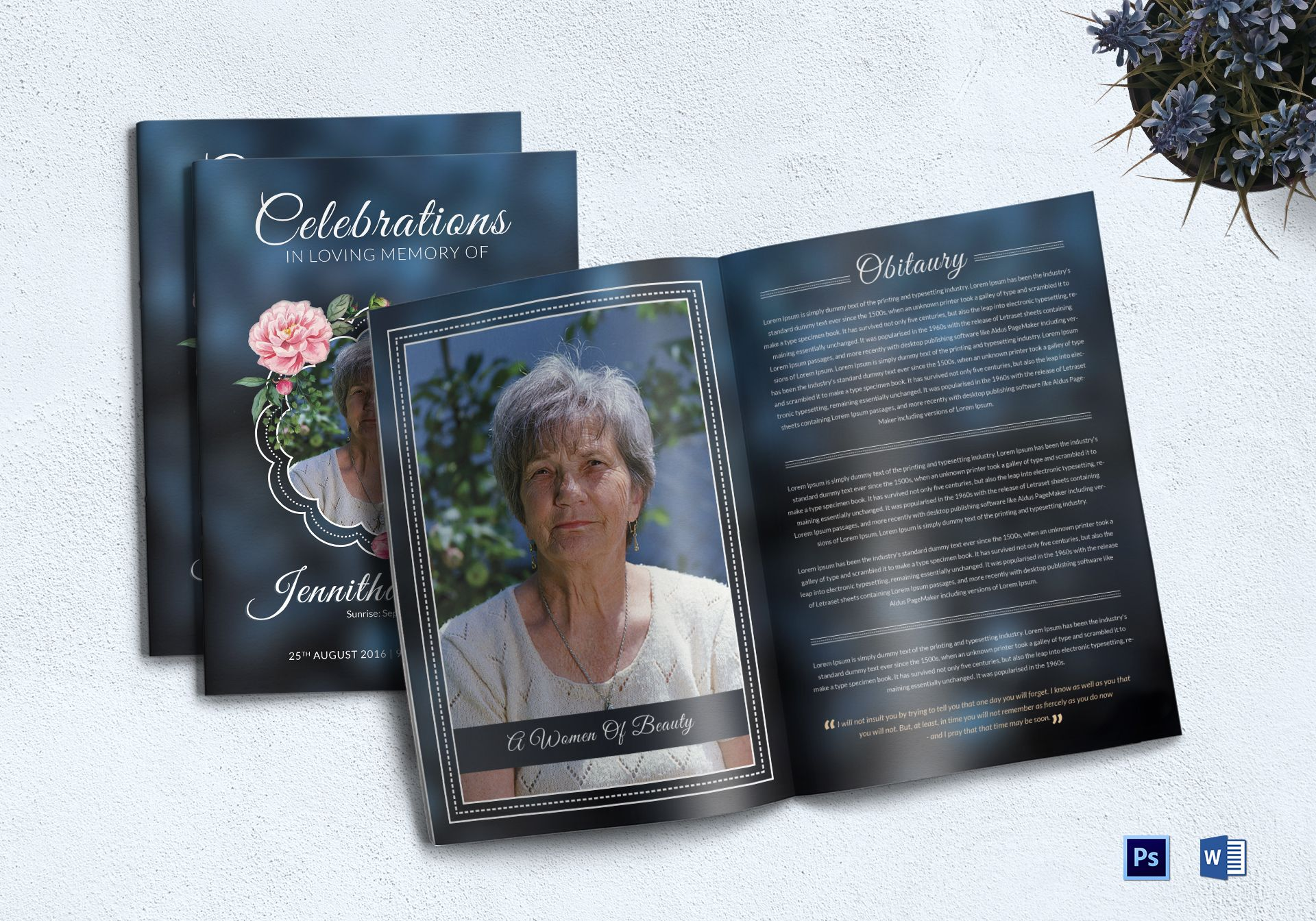 Premium Funeral Booklet Template