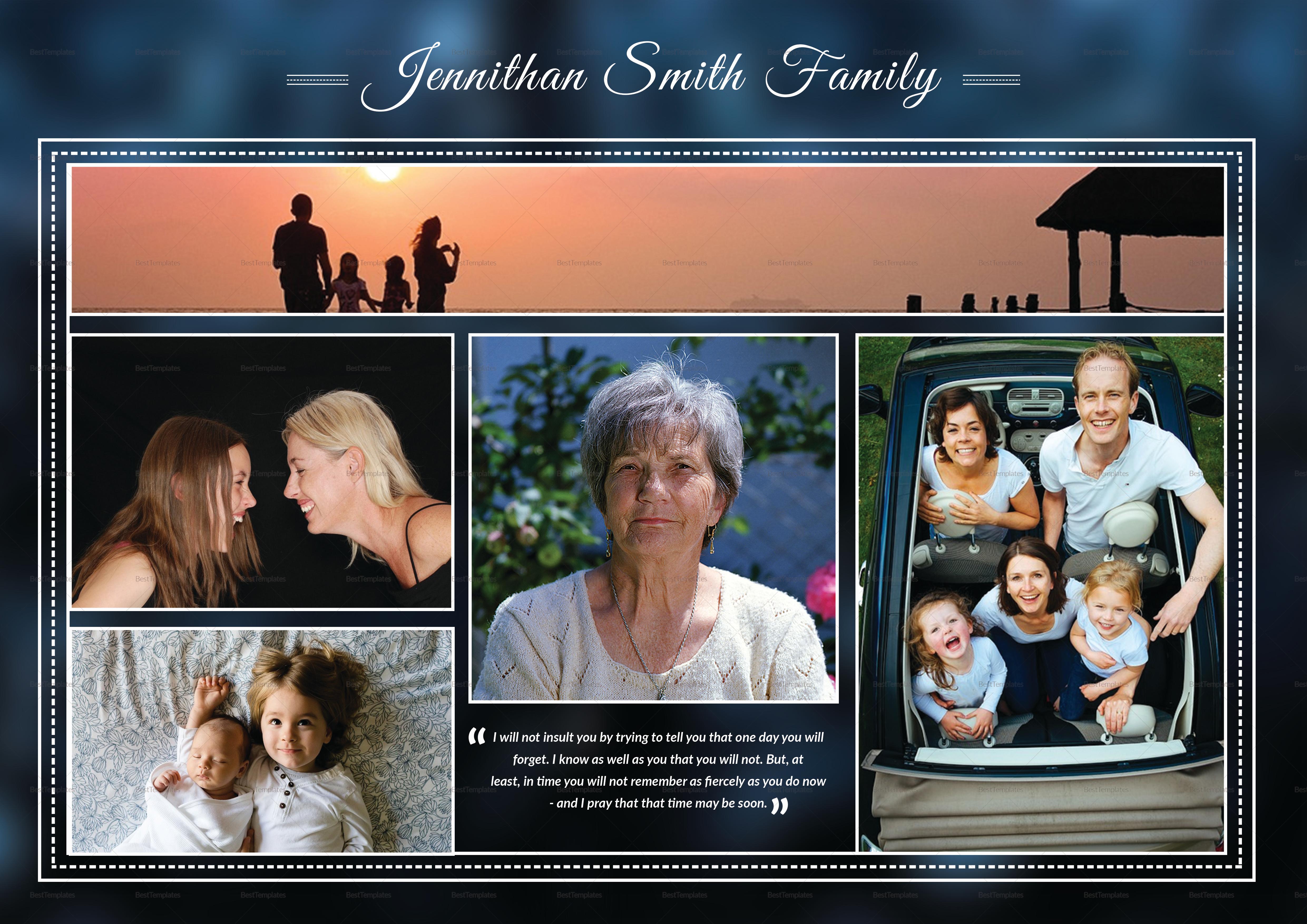 Printable Editable Premium Funeral Booklet