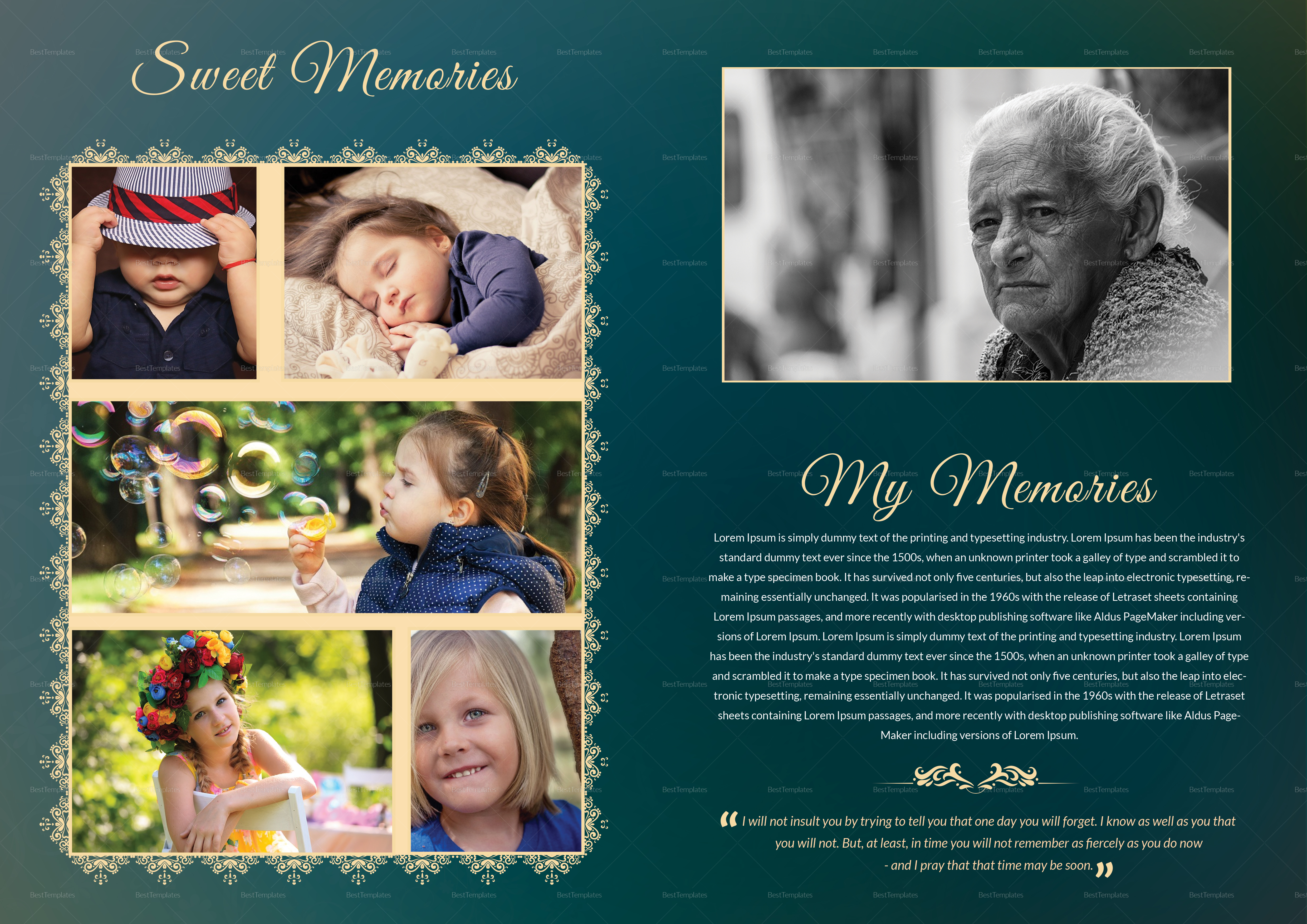 Printable obituary Funeral Booklet