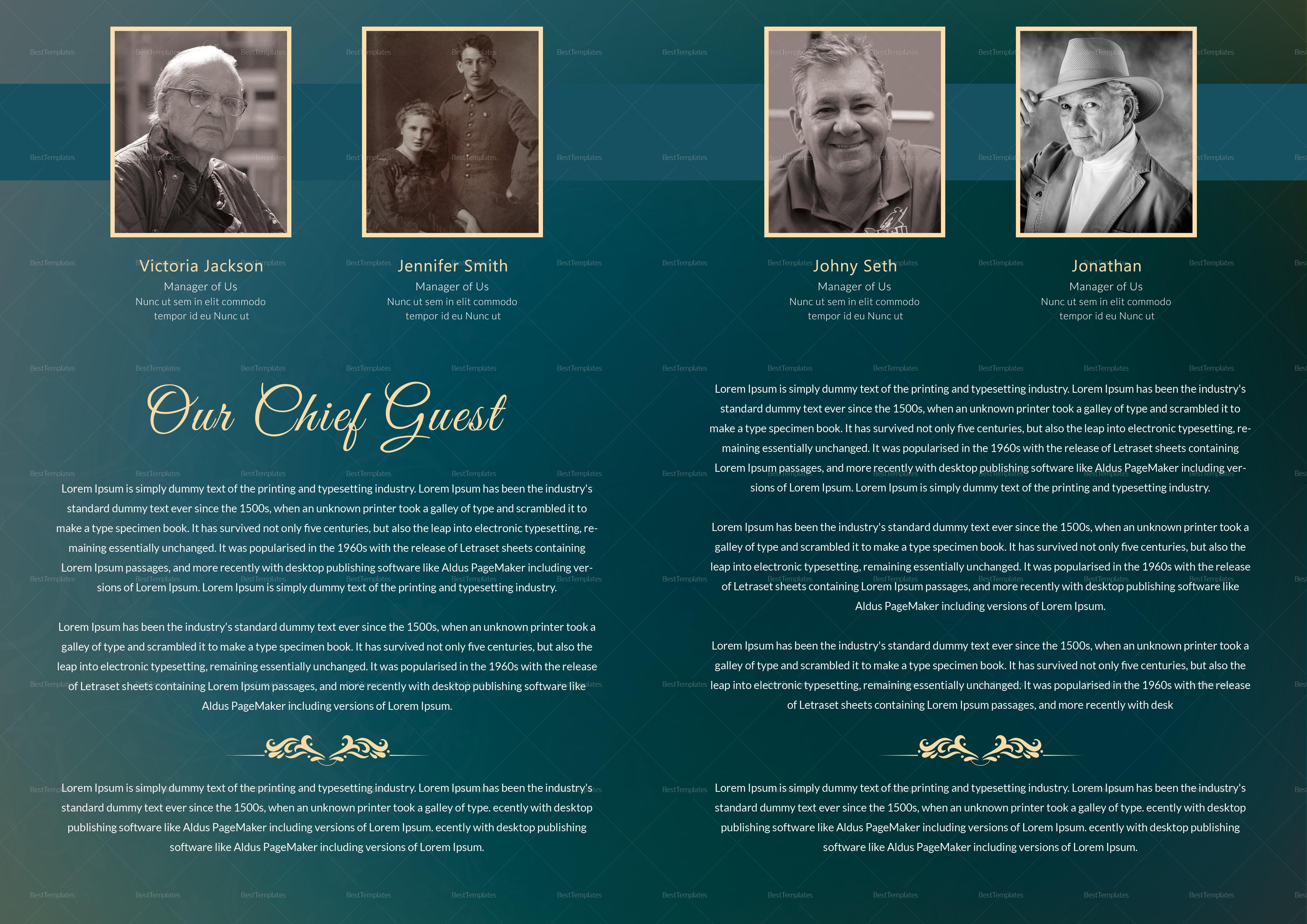obituary Memorial Booklet