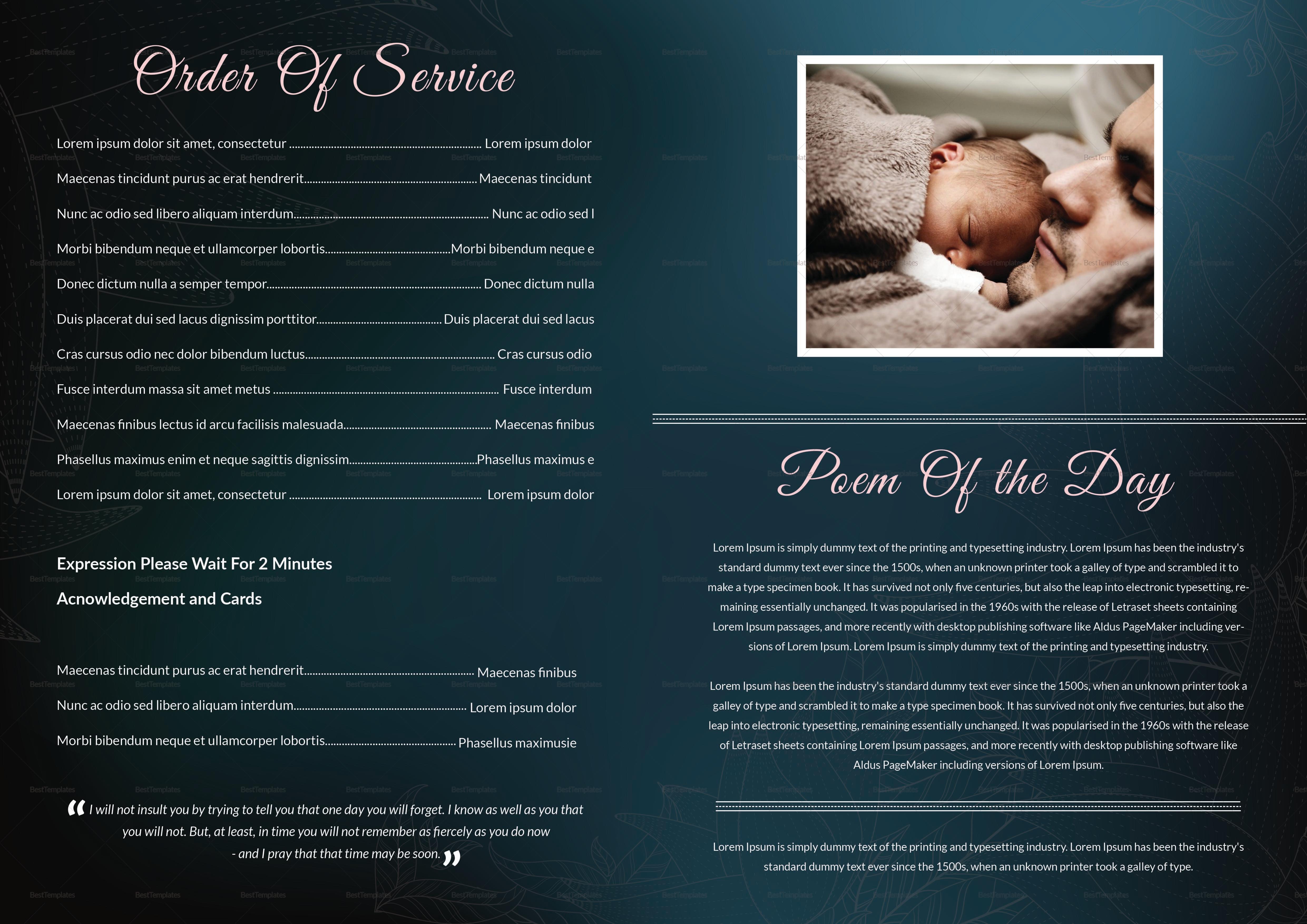 Elegant Funeral service Booklet