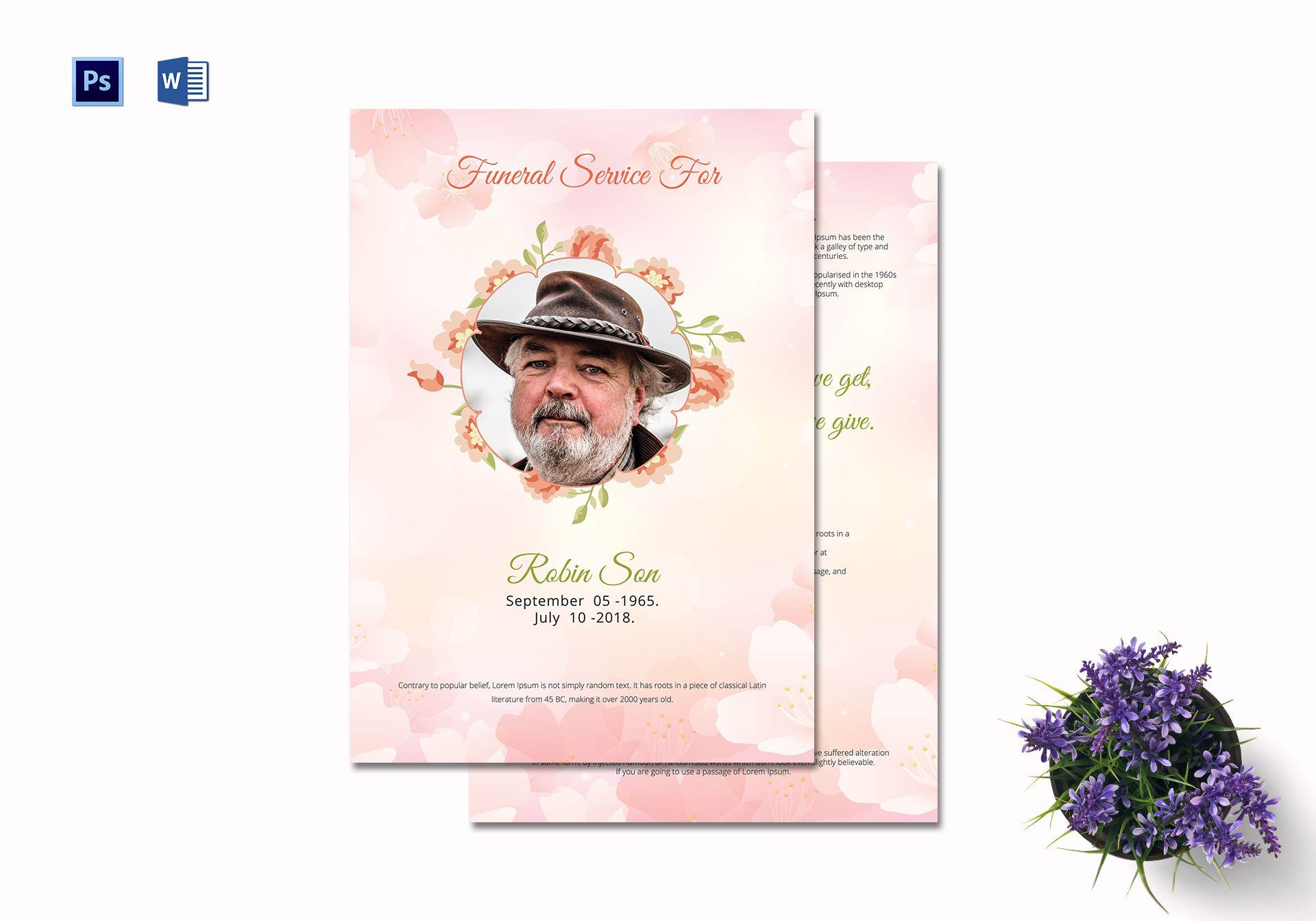 Elegant Funeral Service Template