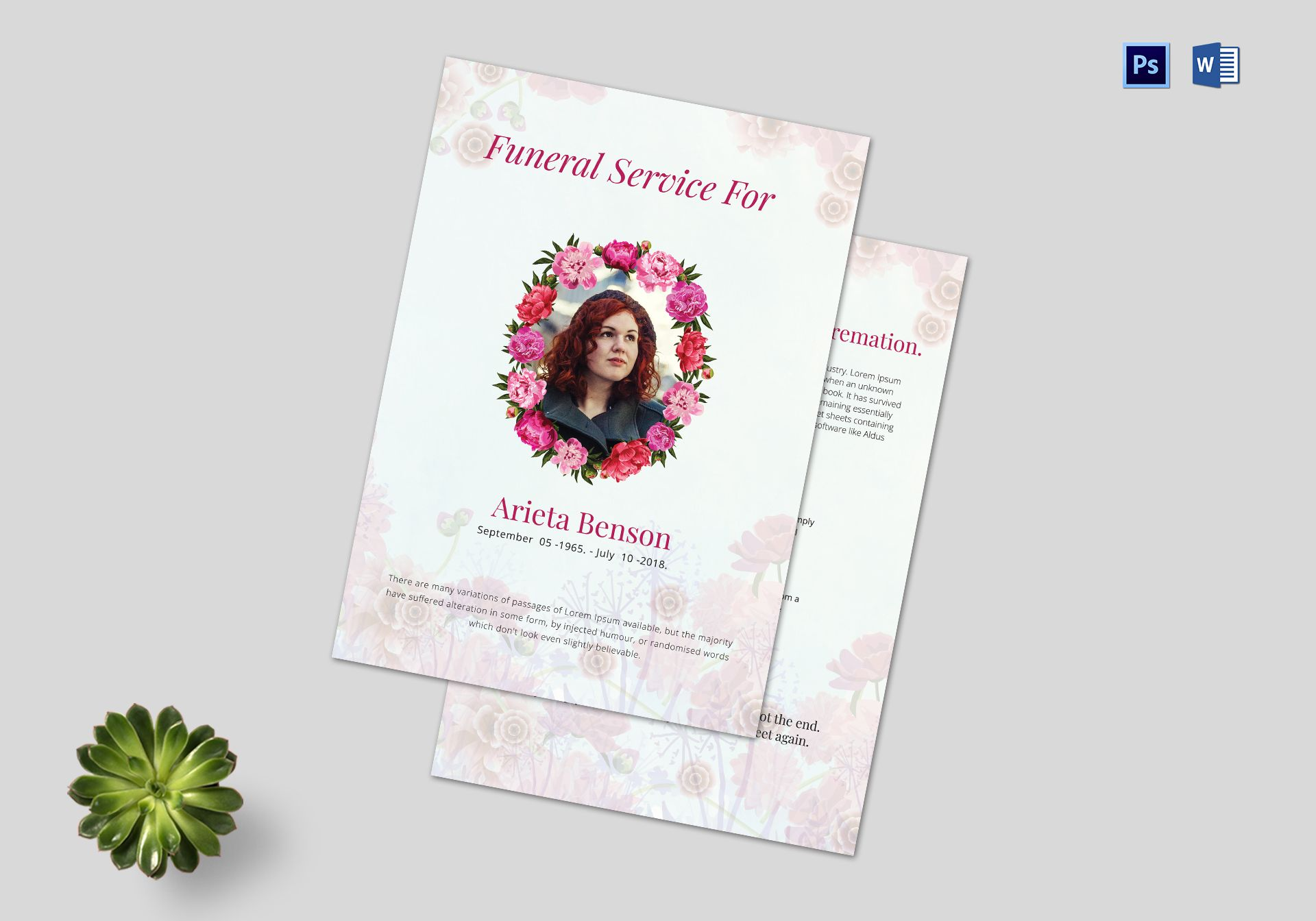 Funeral Service Planner Template