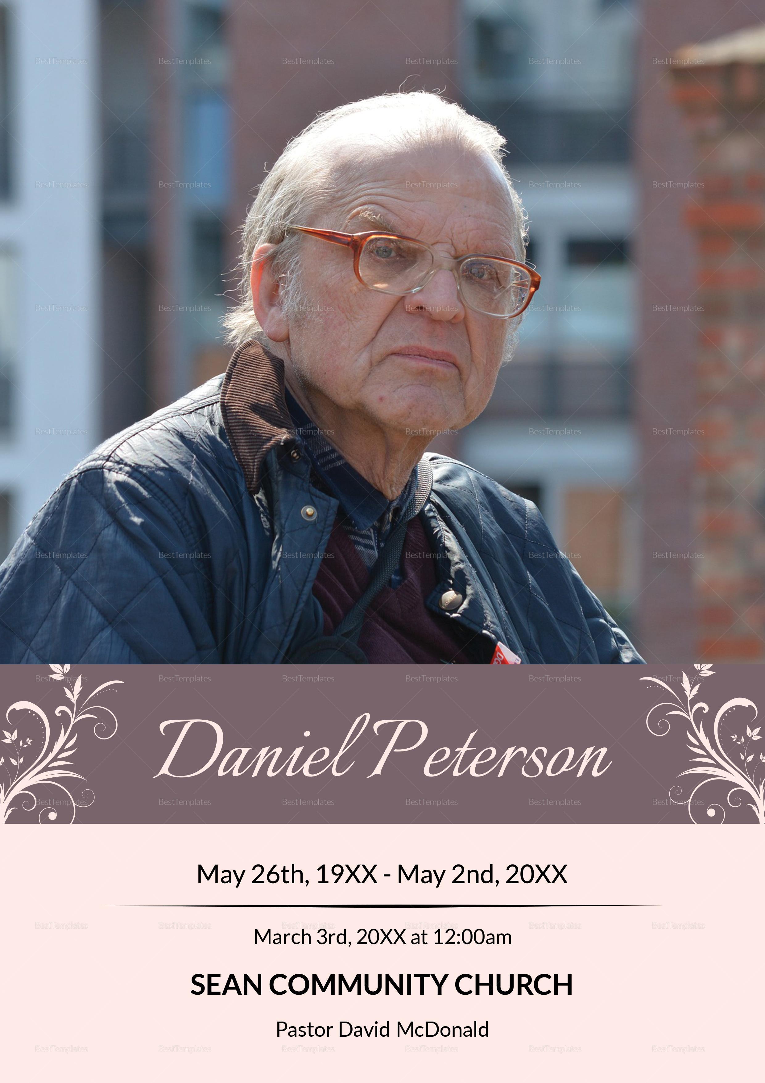 Editable Funeral Obituary