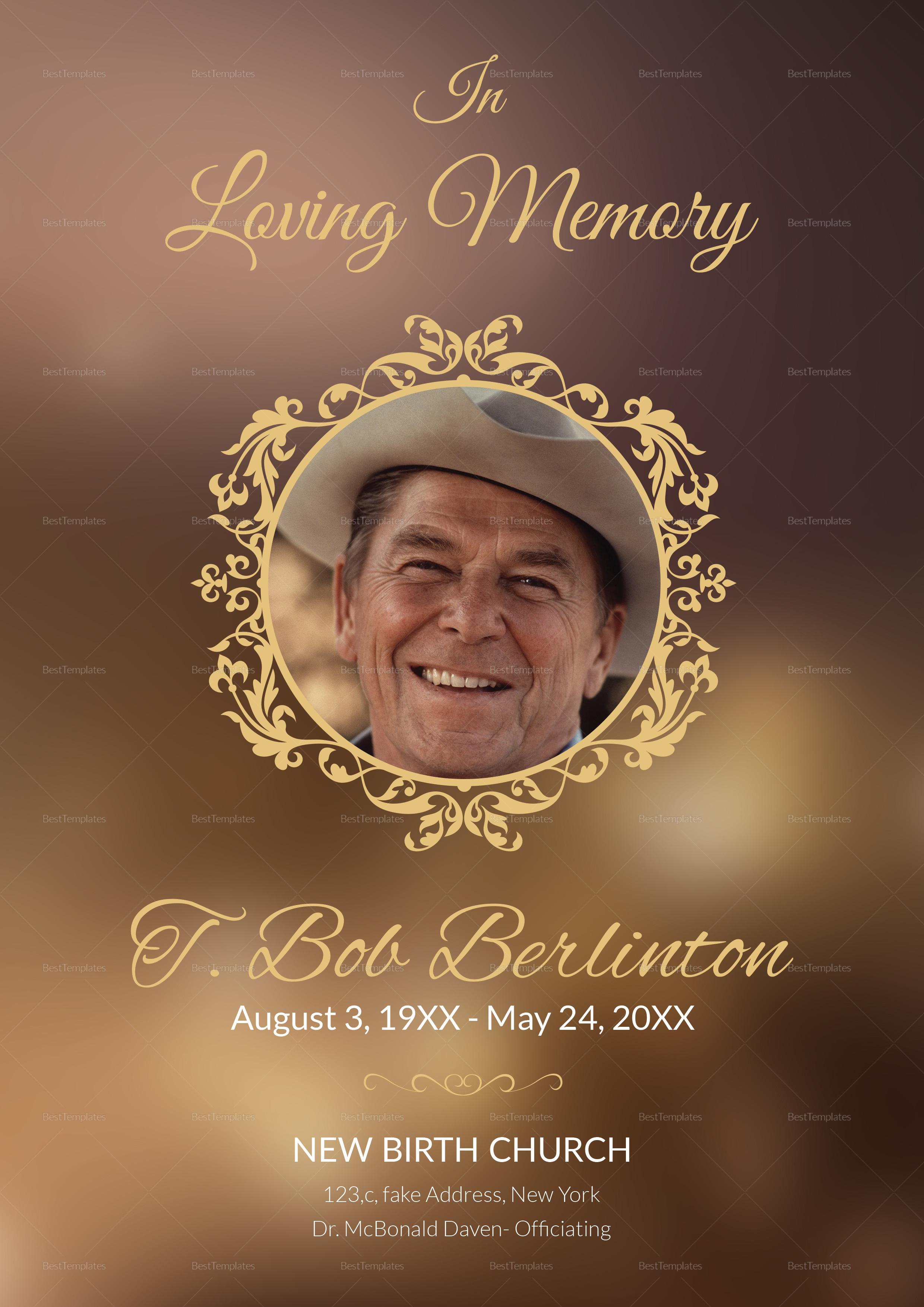 Customizable Funeral Obituary